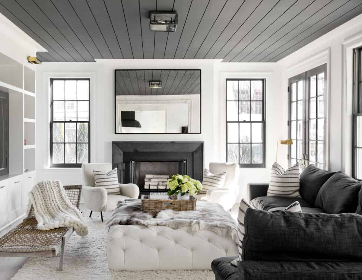 Emily Henderson How To Add Character Ceilings Wood Paneling Header 02