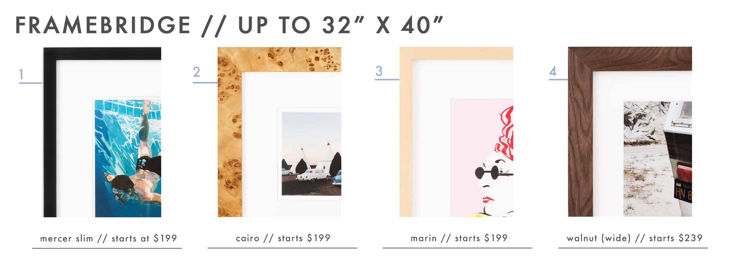 Emily Henderson Large Scale Art Printable Affordable Frames Framebridge Roundup