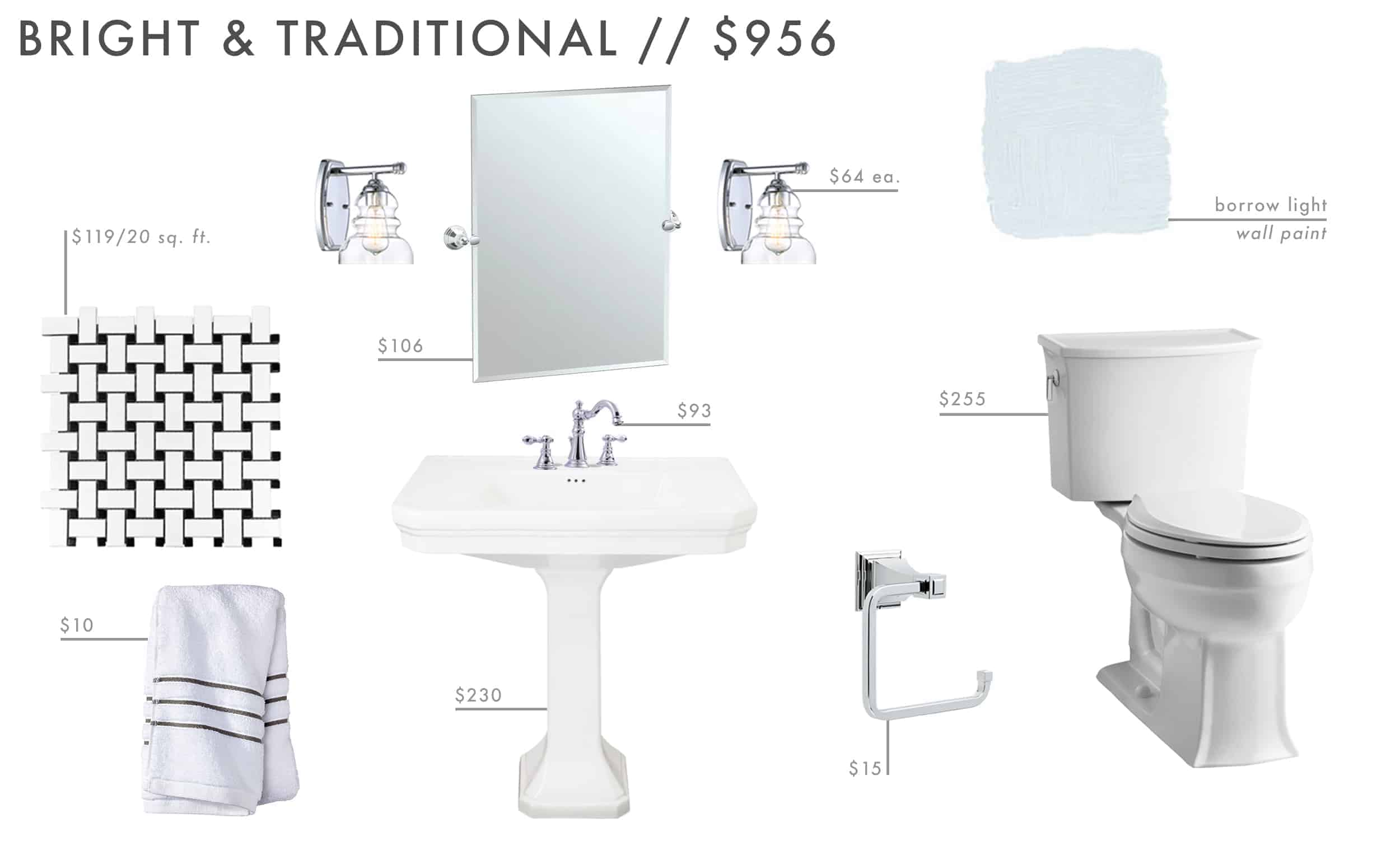 Emily Henderson Roundup Affordable Bathroom Budget Friendly Moodboard 02
