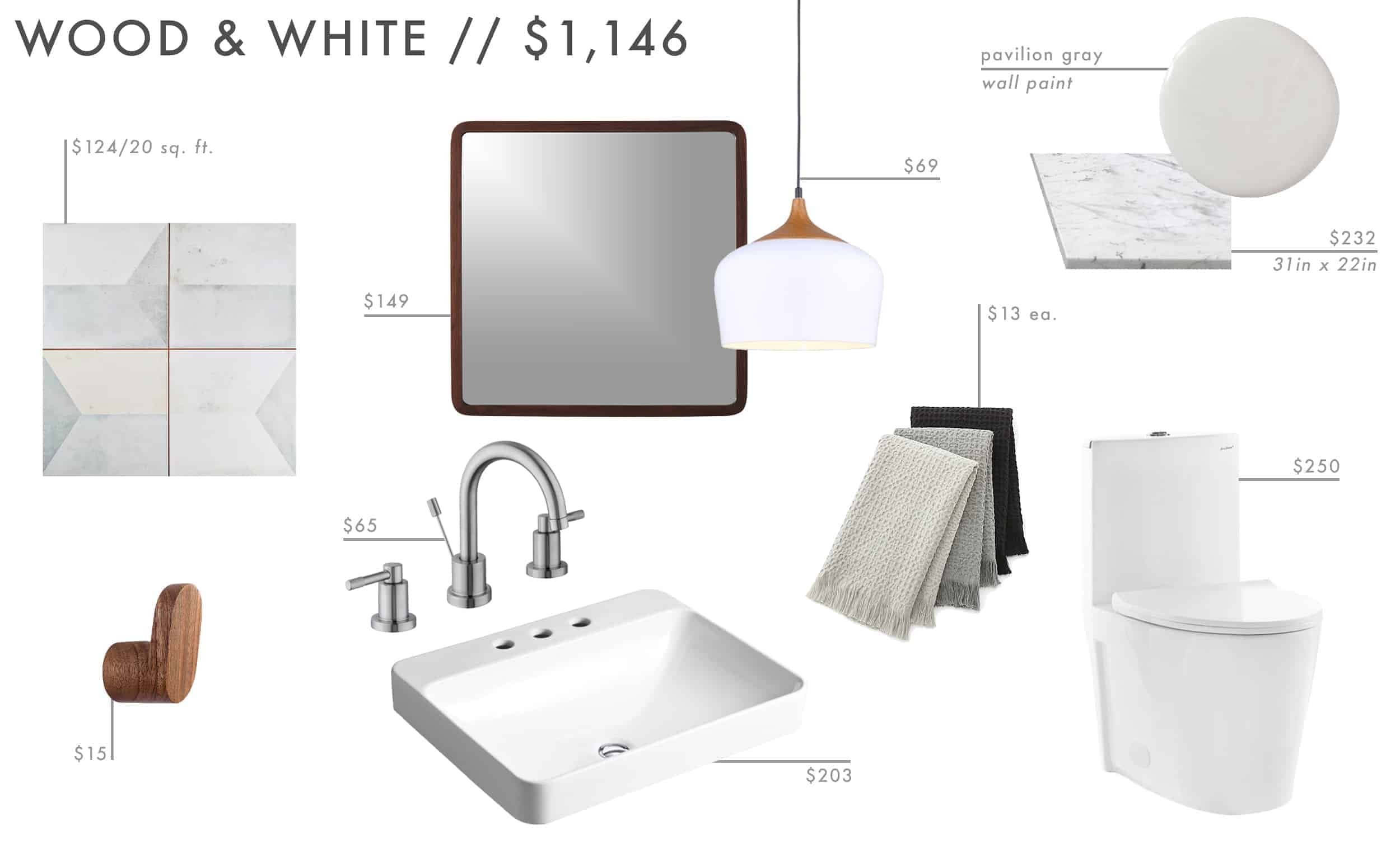 Emily Henderson Roundup Affordable Bathroom Budget Friendly Moodboard 06