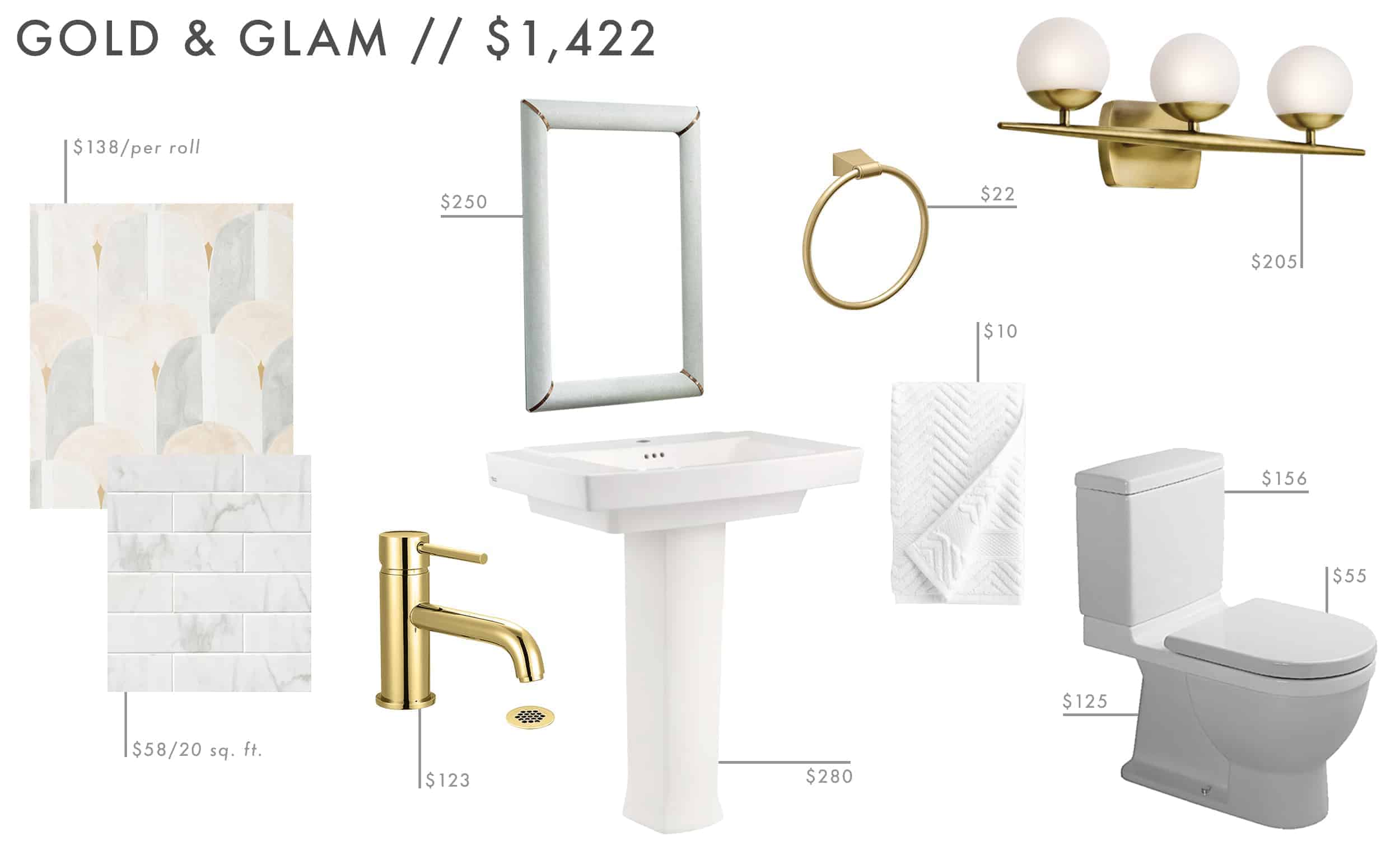 Emily Henderson Roundup Affordable Bathroom Budget Friendly Moodboard 071