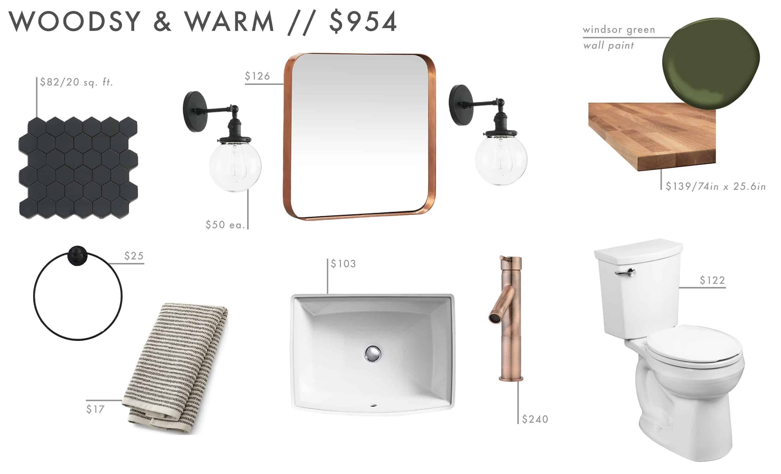 Emily Henderson Roundup Affordable Bathroom Budget Friendly Moodboard 08
