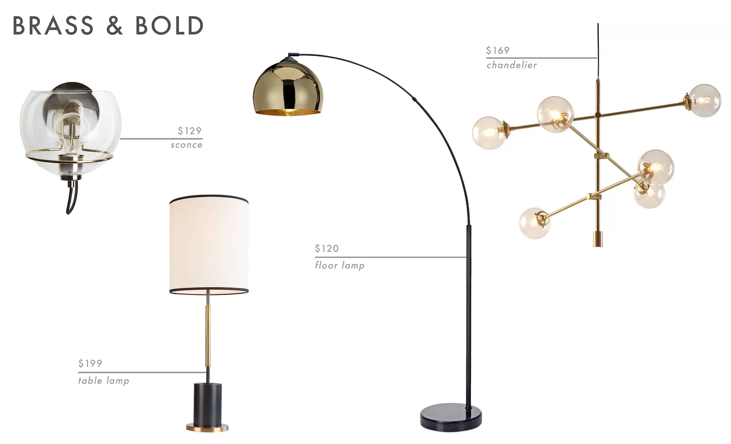 Emily Henderson Roundup Lighting Combos Table Lamp Floor Lamp Sconce 15
