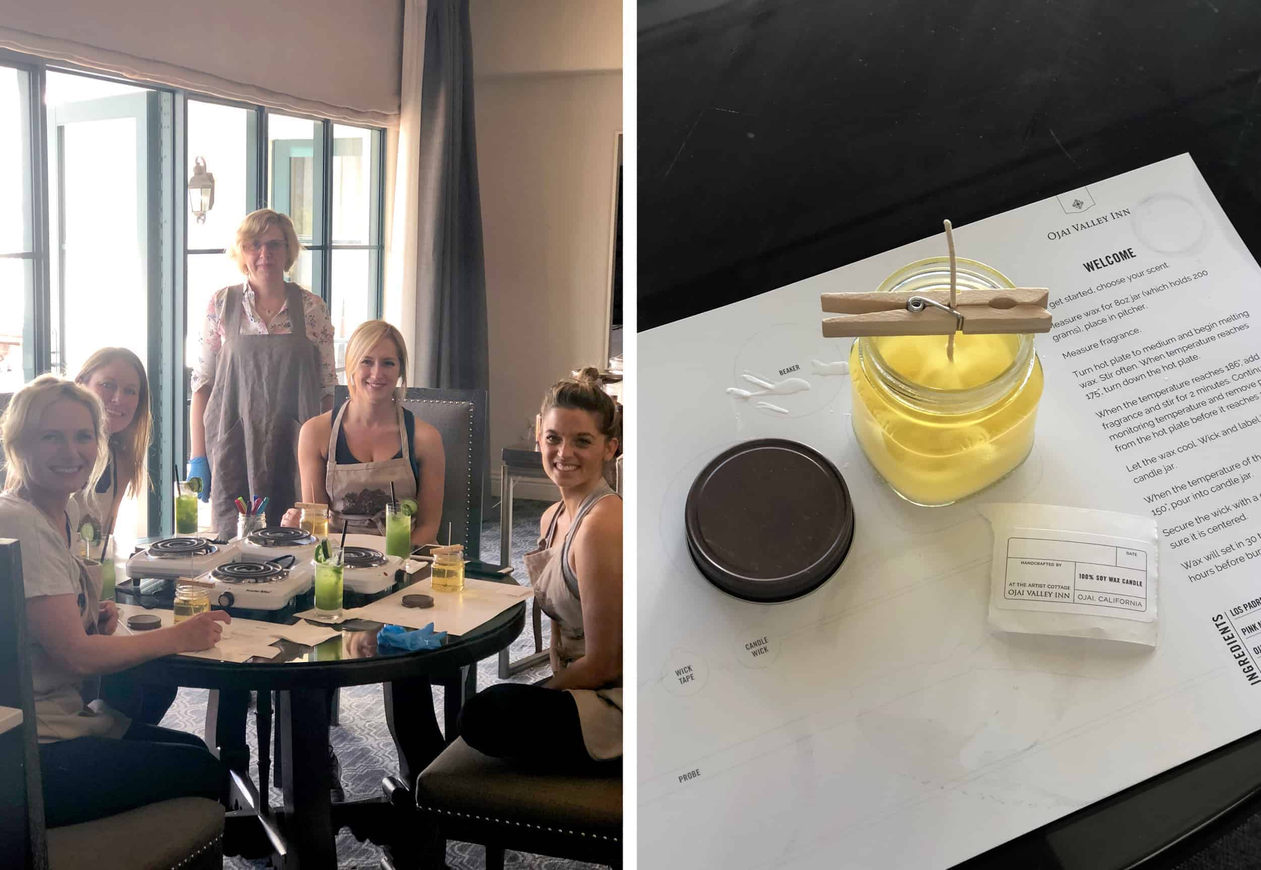 Ojai Valley Inn Candle Making Experience