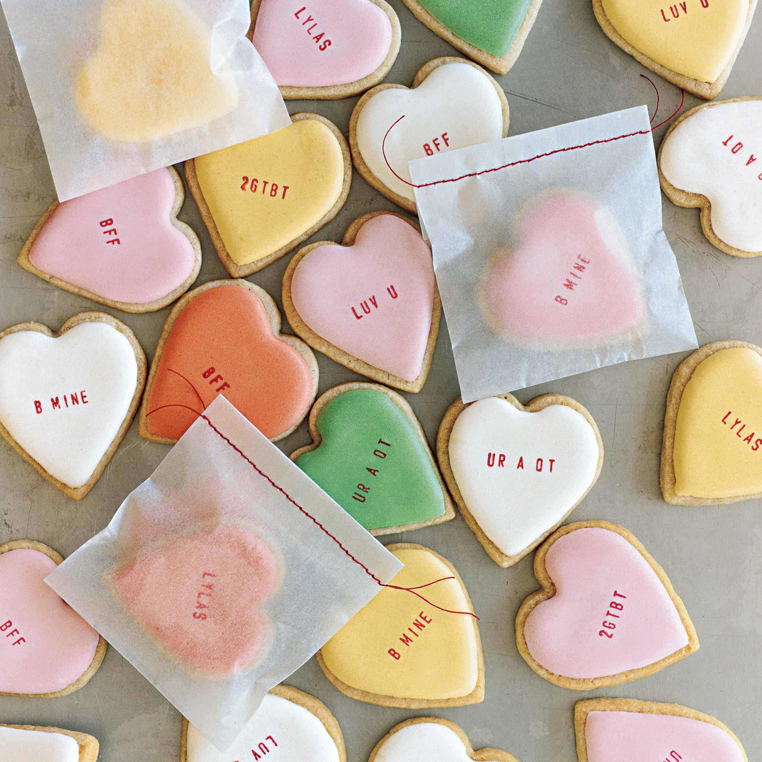 Heart Cookies Pastel DIY Gifts Easy to do