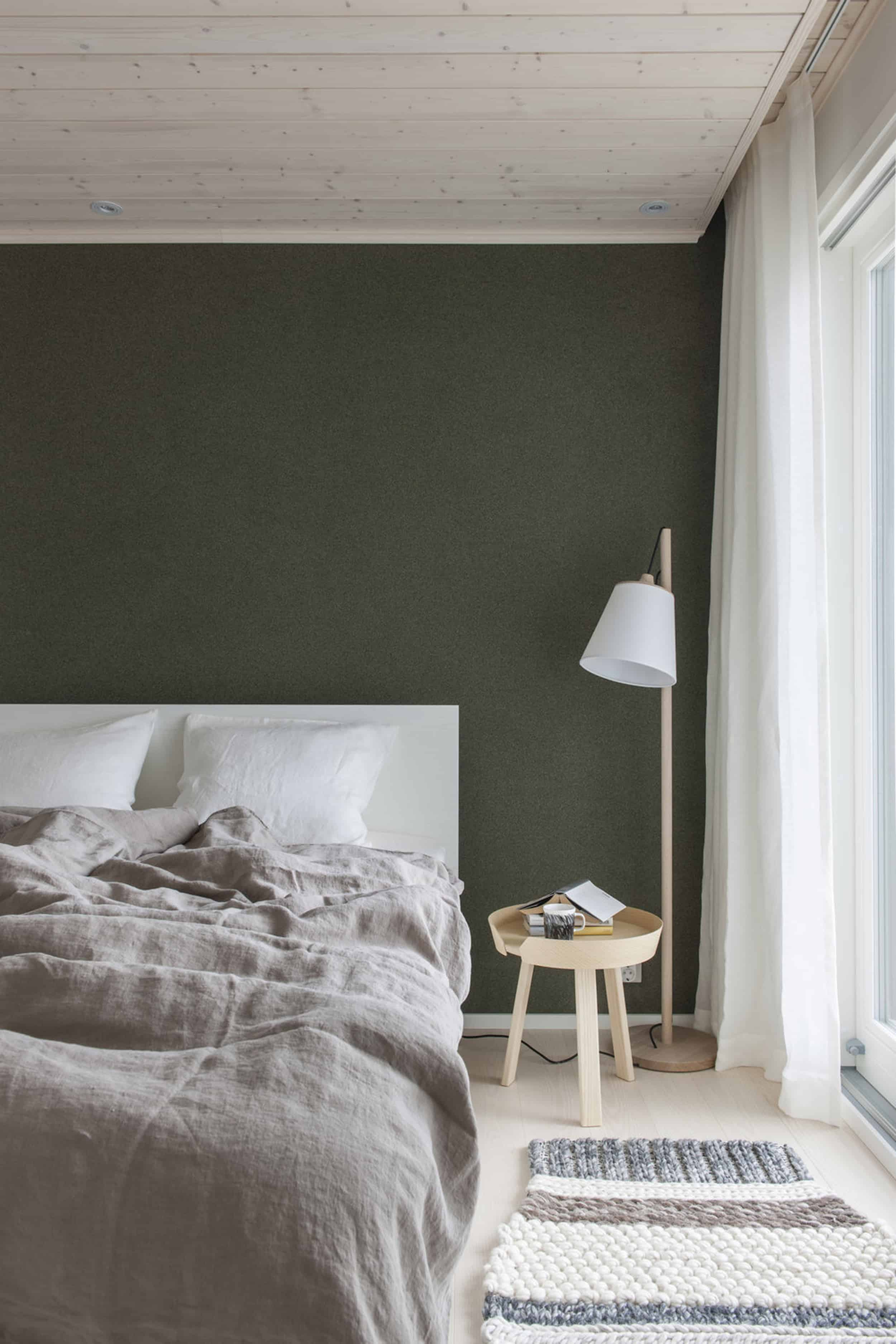 Emily Henderson Bedroom Living Room Colored Toned Walls Blue Green Grey12