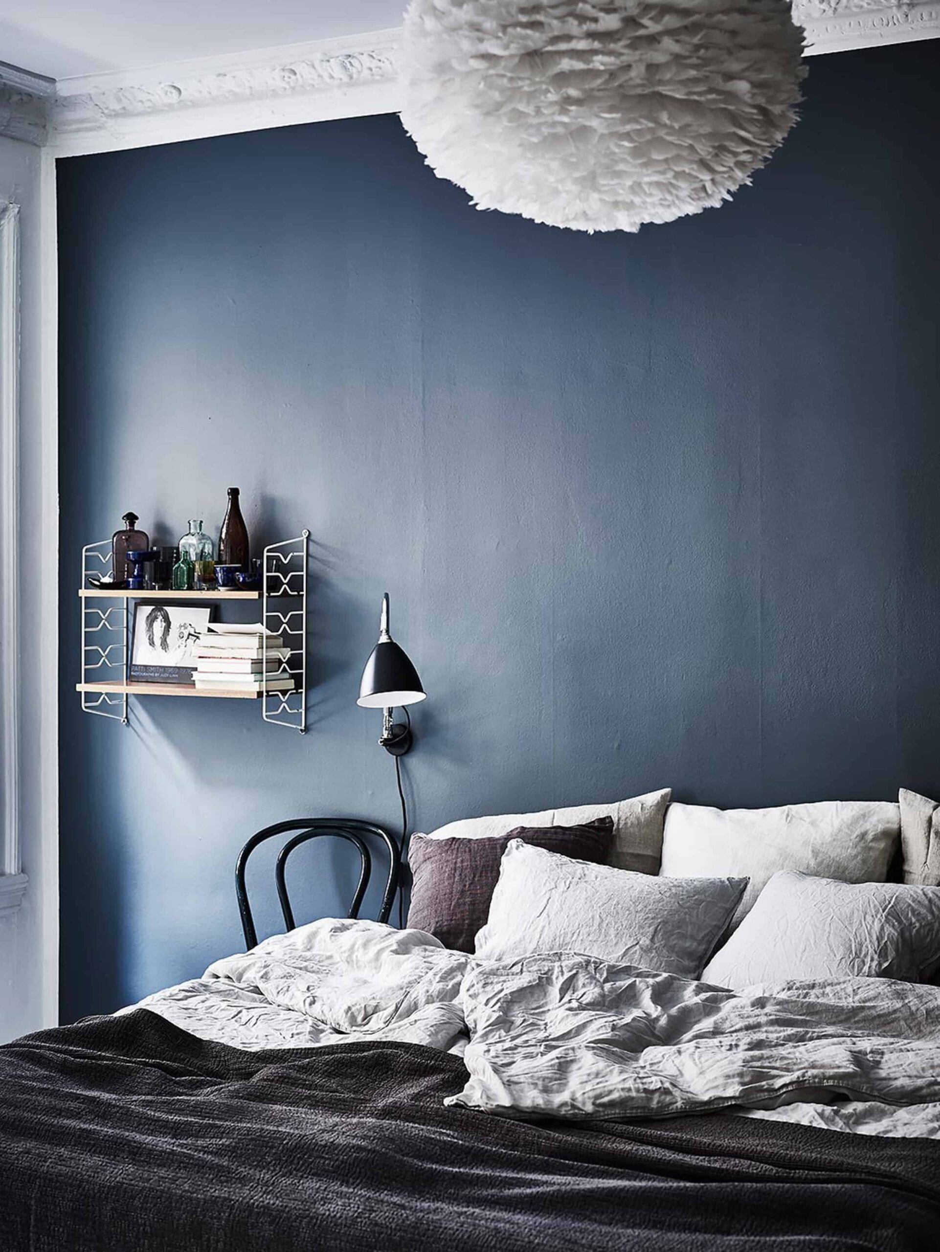 Emily Henderson Bedroom Living Room Colored Toned Walls Blue Green Grey4