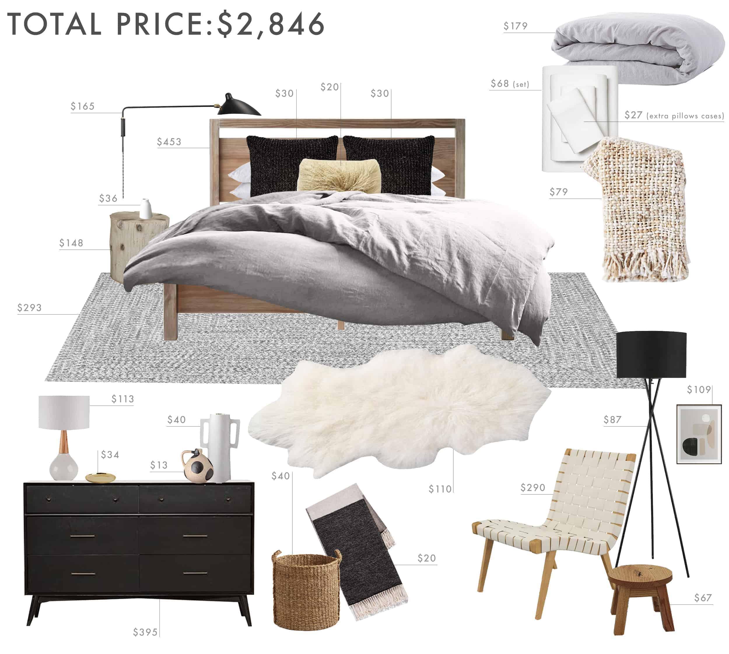 Emily Henderson Budget Room Bedroom Rustic Scandinavian Under 3k 1