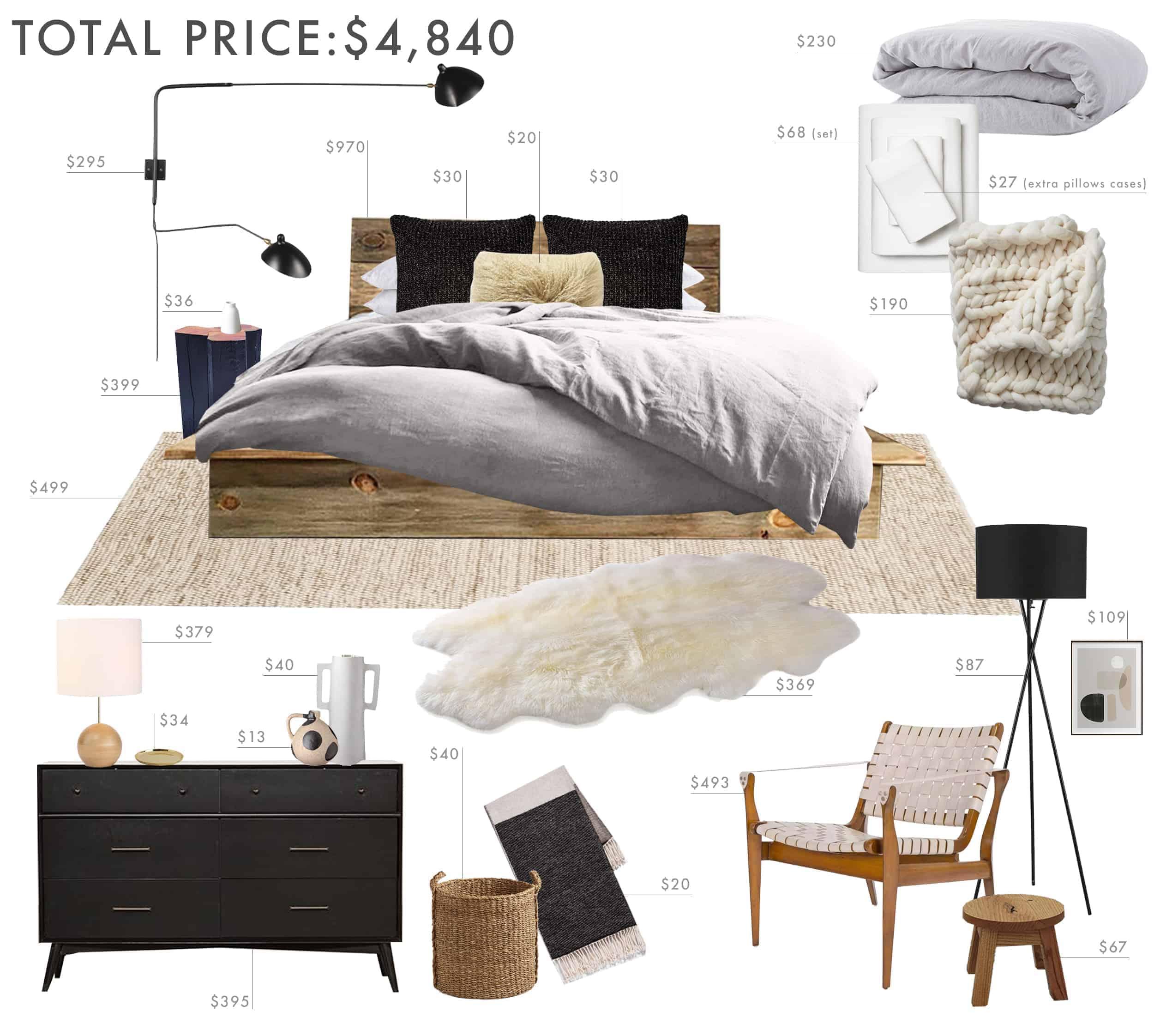 Emily Henderson Budget Room Bedroom Rustic Scandinavian Under 5k