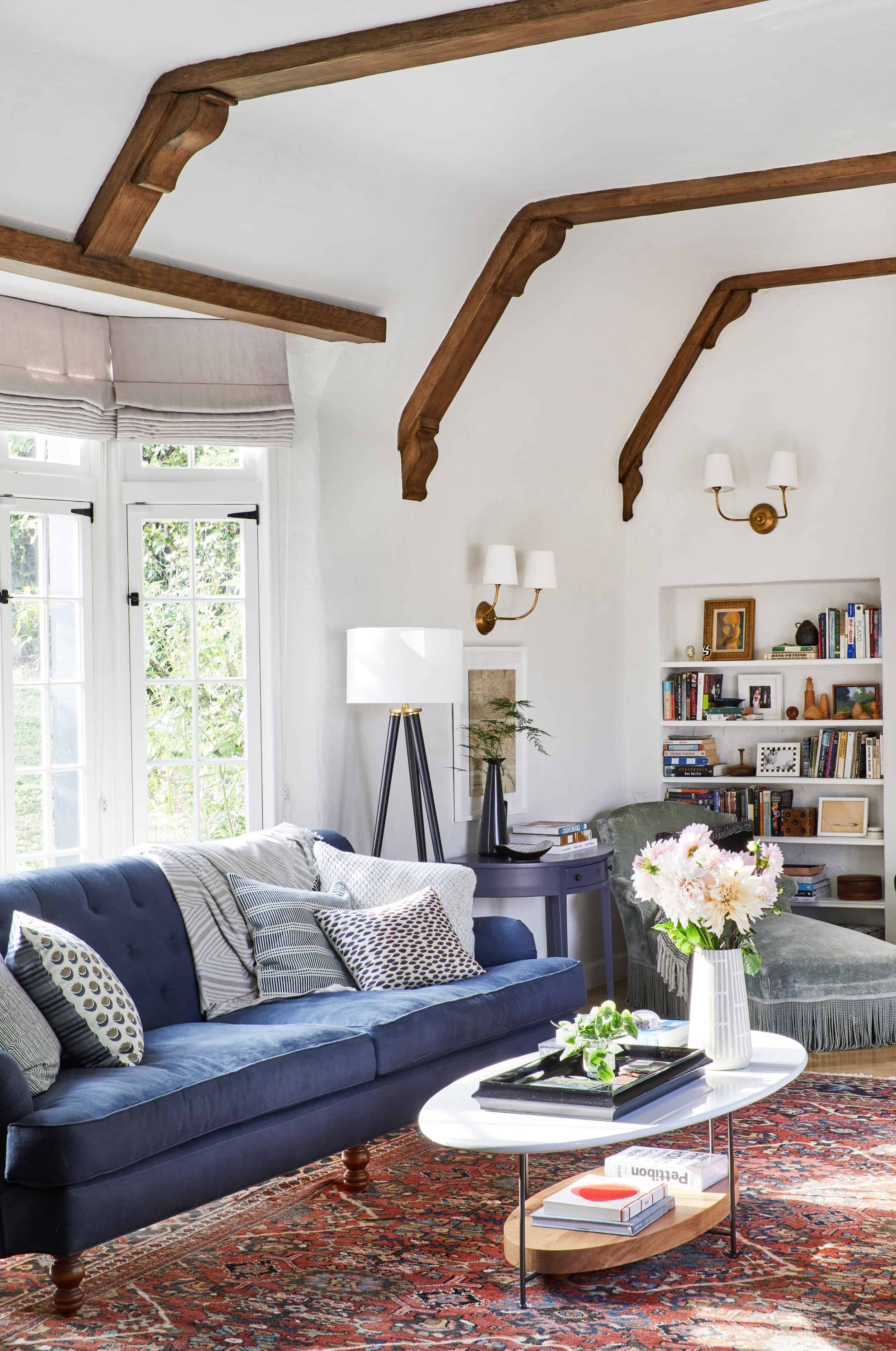 Emily Henderson Modern English Cottage Tudor Living Room Reveal4