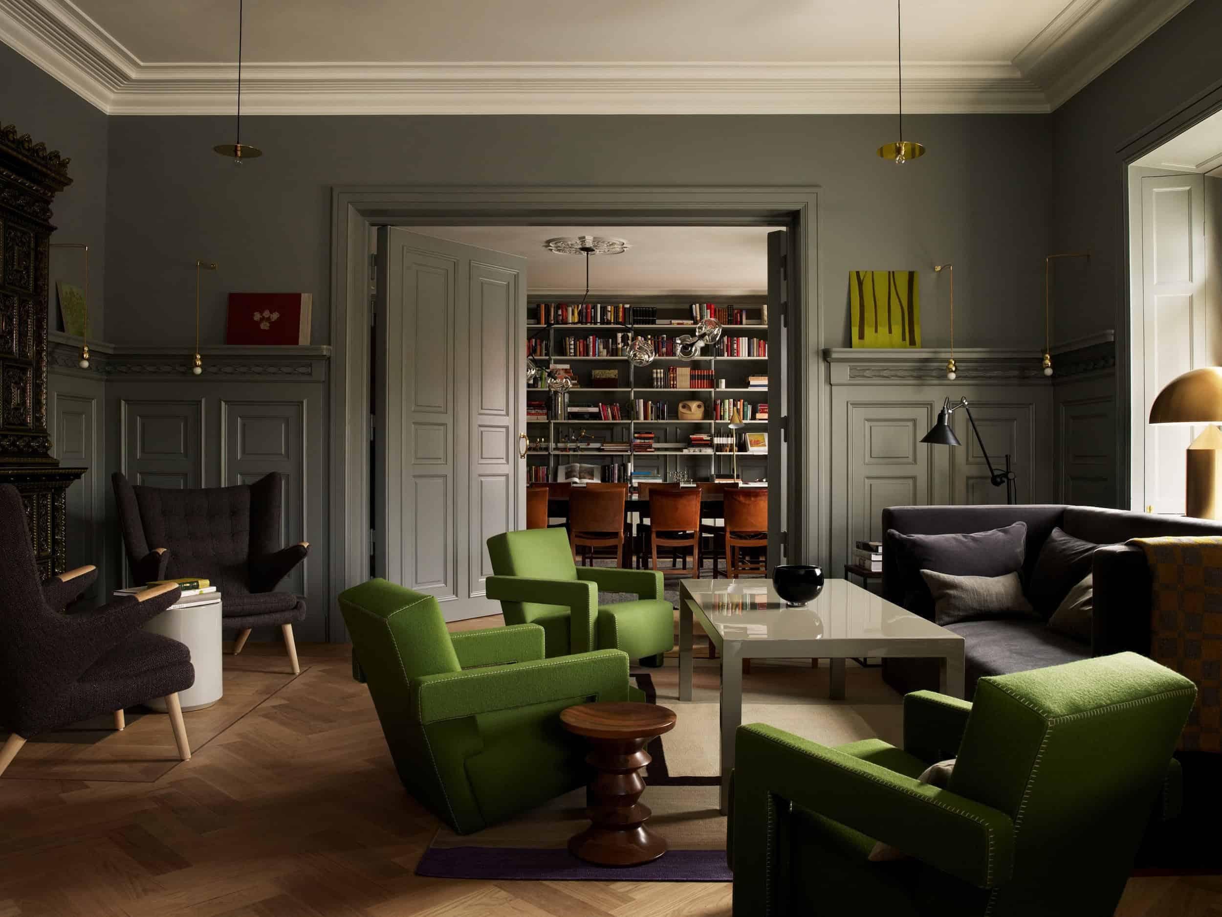 Emily Henderson Modern Victorian Trend Eclectic Boho Moody Velvet Tufted Fringe Detailed Dramatic Living Room Bedroom 3