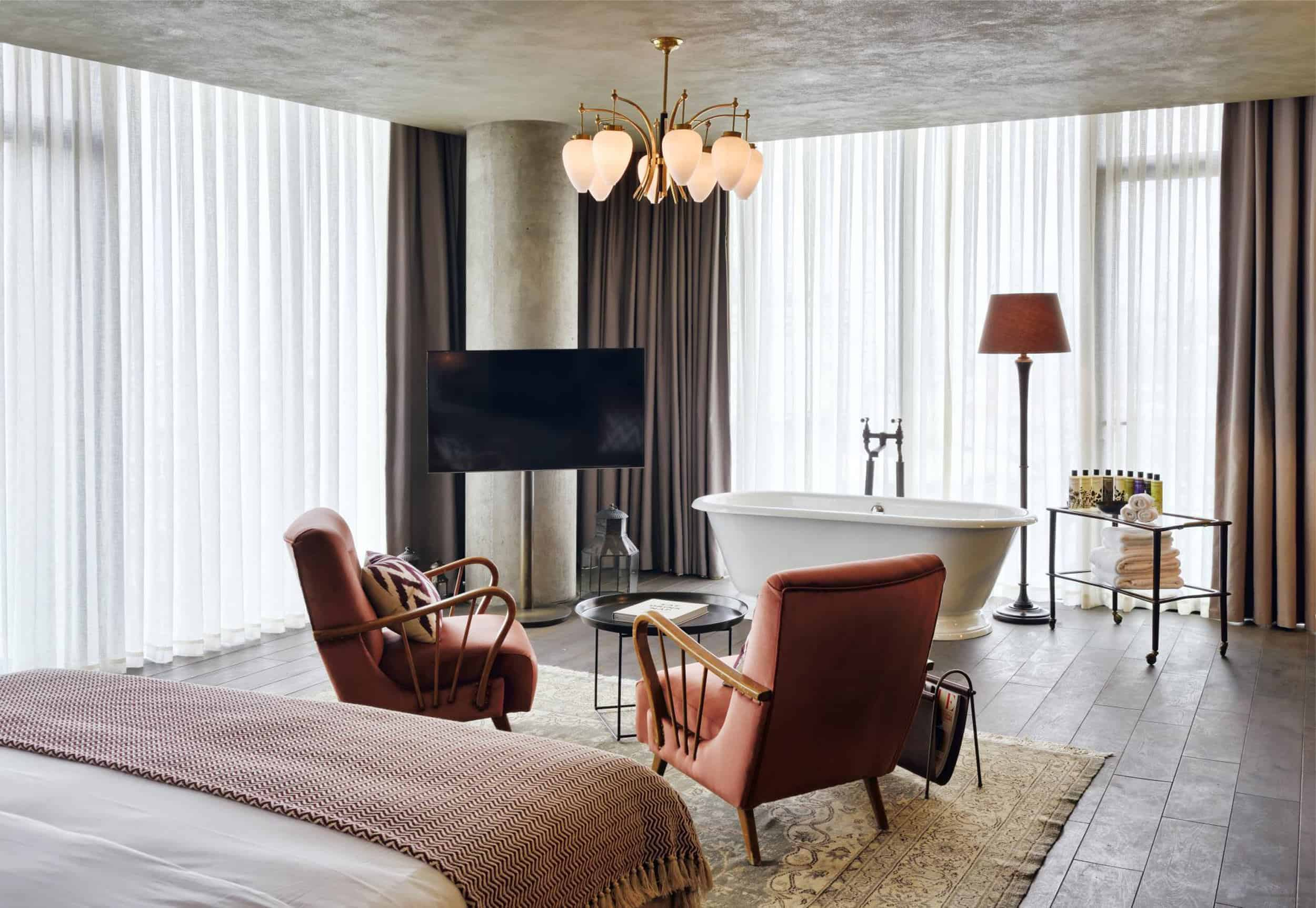 Emily Henderson Modern Victorian Trend Eclectic Boho Moody Velvet Tufted Fringe Detailed Dramatic Living Room Bedroom 8