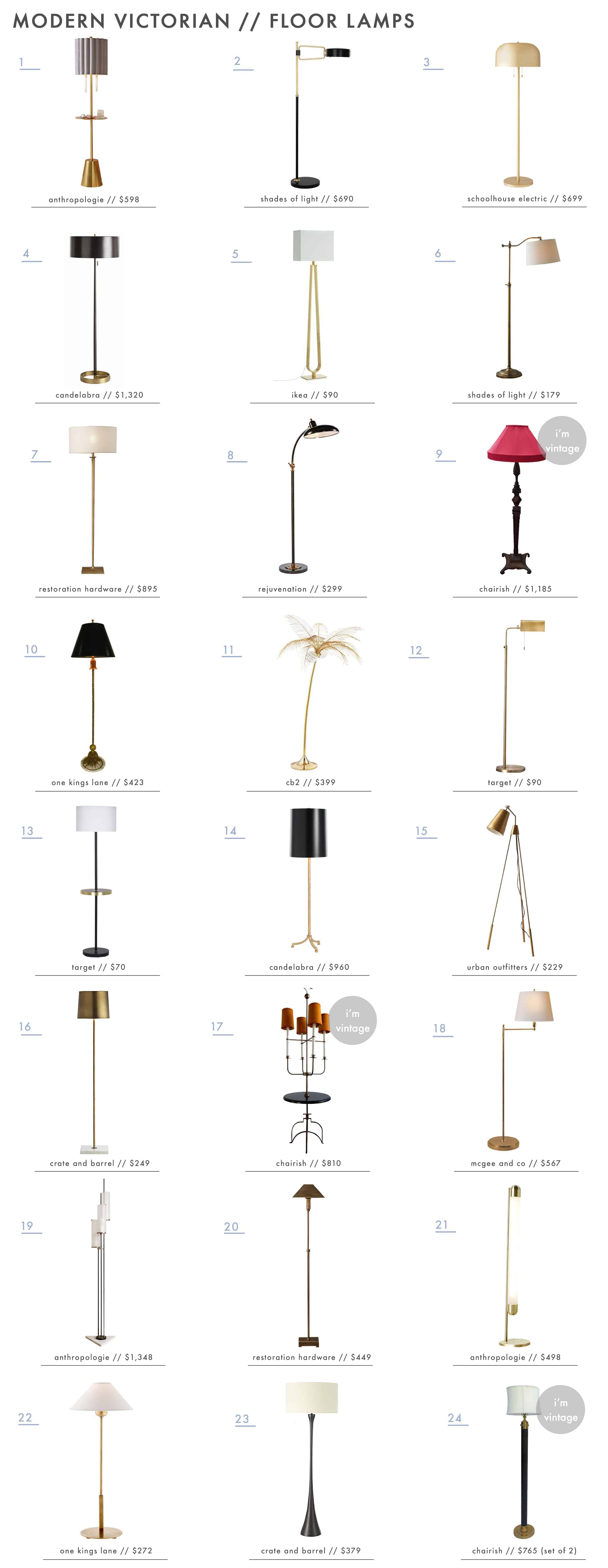 Emily Henderson Modern Victorian Trend Lighting Floor Lamps Roundup