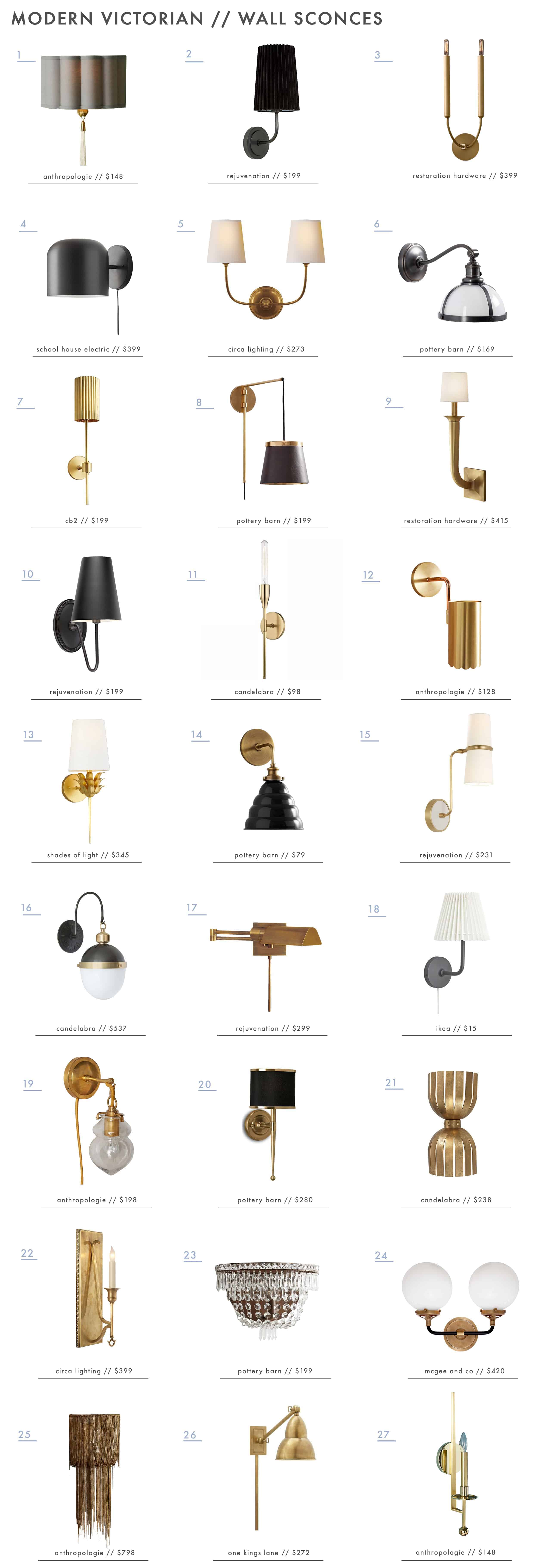 Modern Victorian Style Lighting Shop Our Picks Emily Henderson