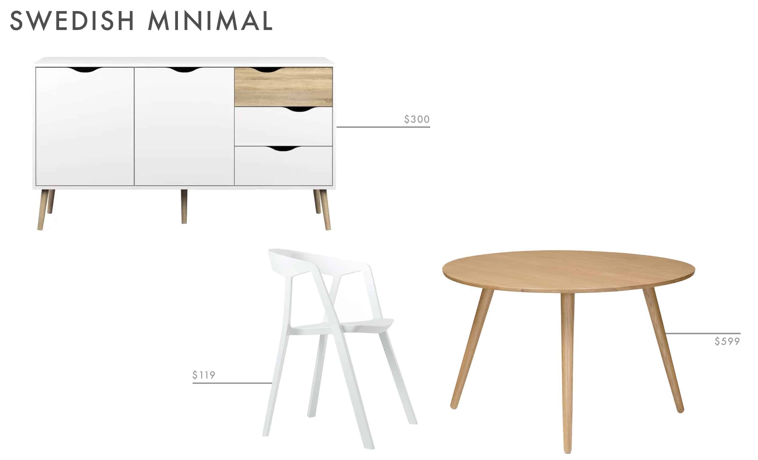dining room ideas white chair wood table minimal