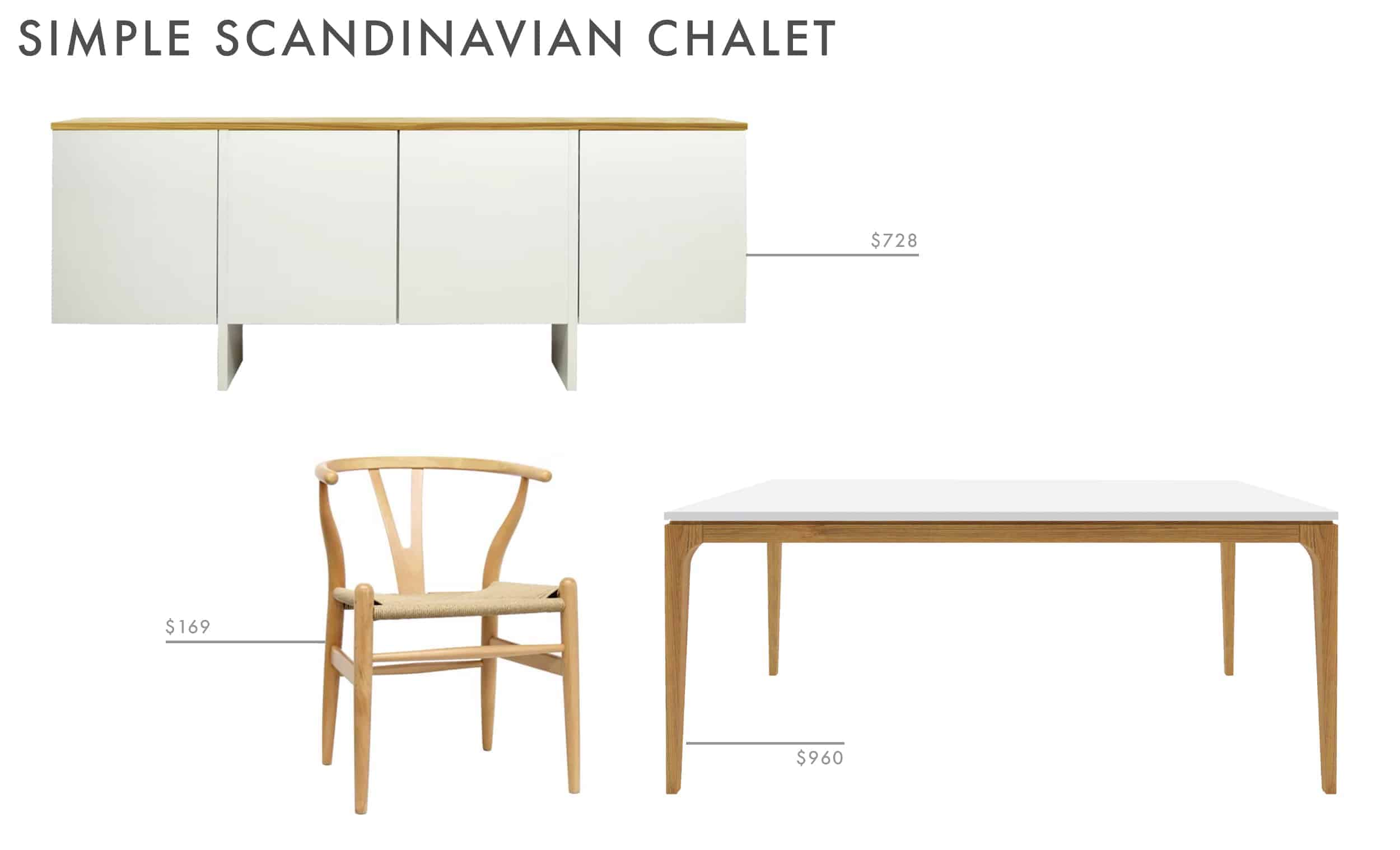 scandinavian dining room refined white and wood