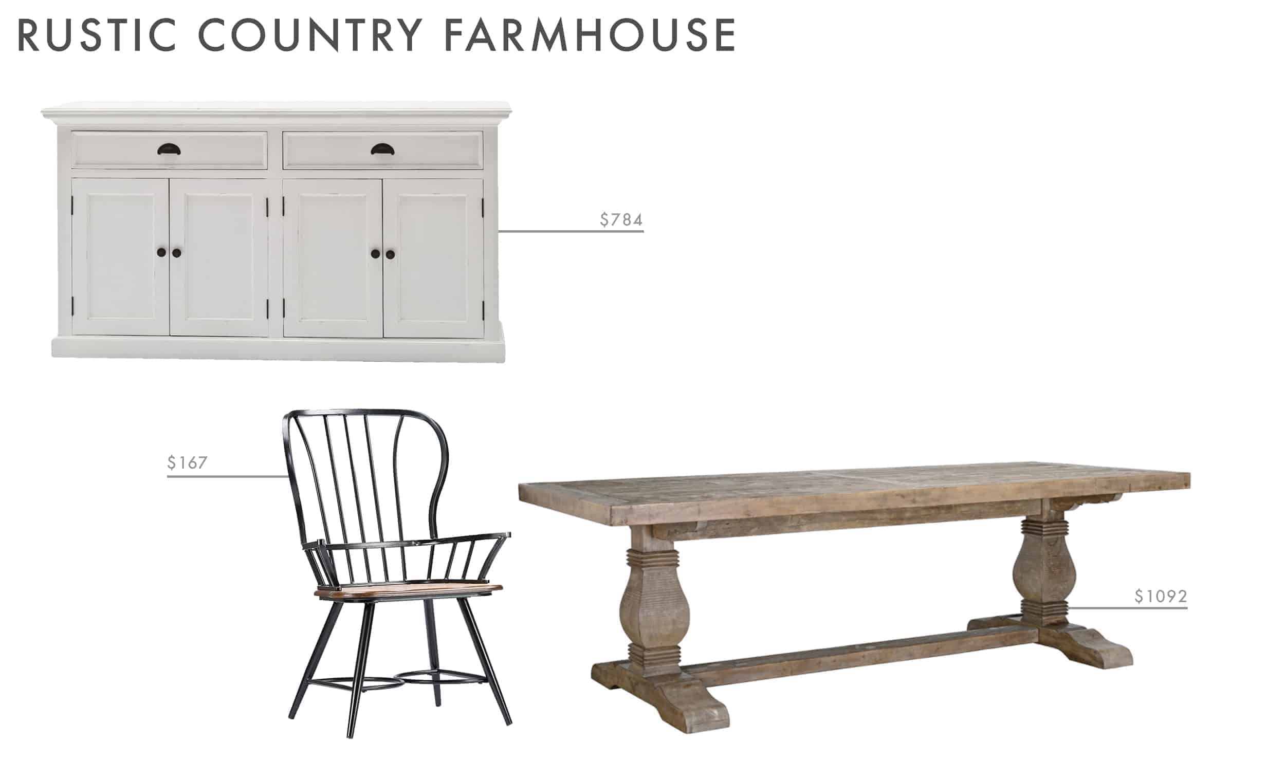 dining room ideas modern farmhouse rustic wood table white credenza