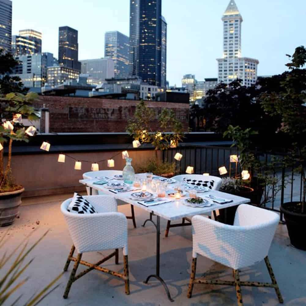 Valentines Day Ideas Diy Romantic rooftop date dinner