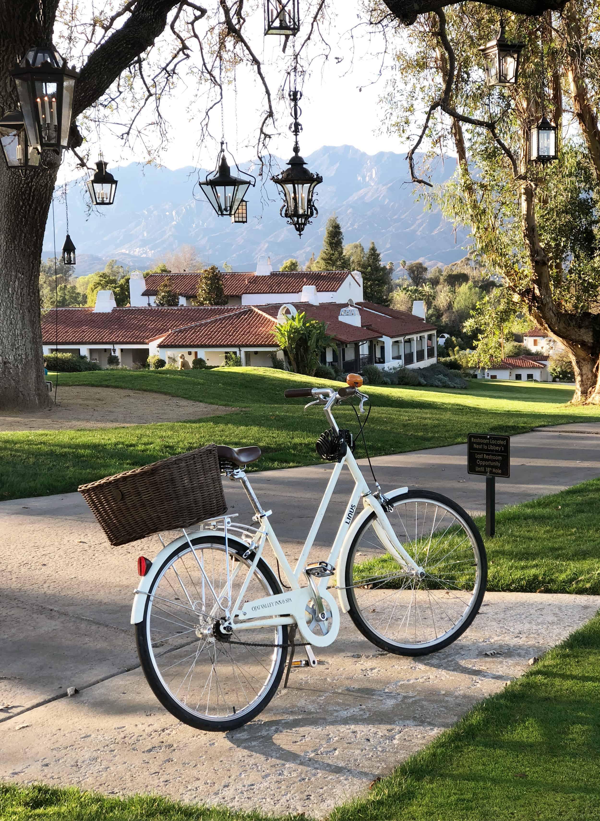 Vintage Bike With Basket Rental Ojai Valley Inn