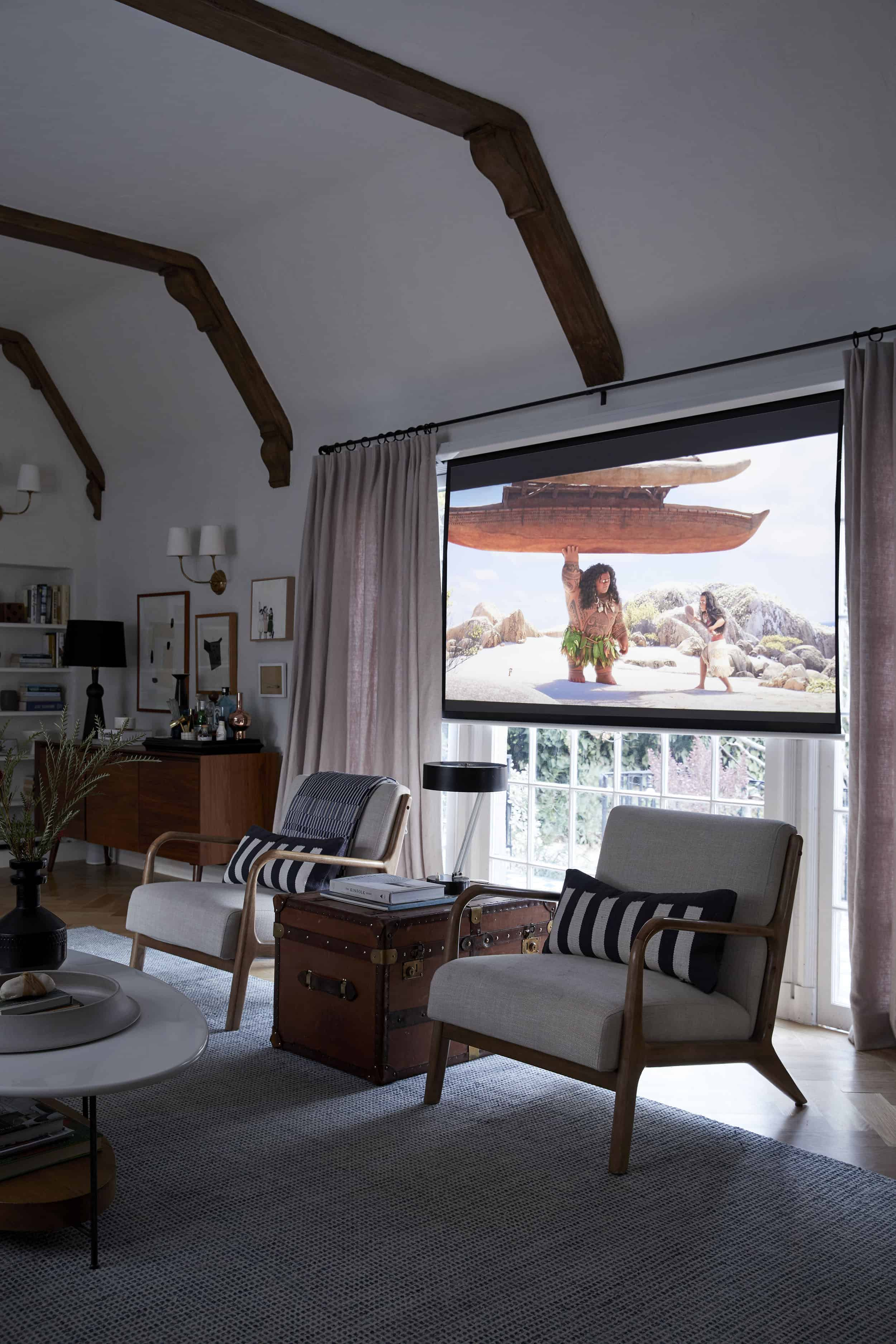 Pretty Pull Down Living Room Movie Projector