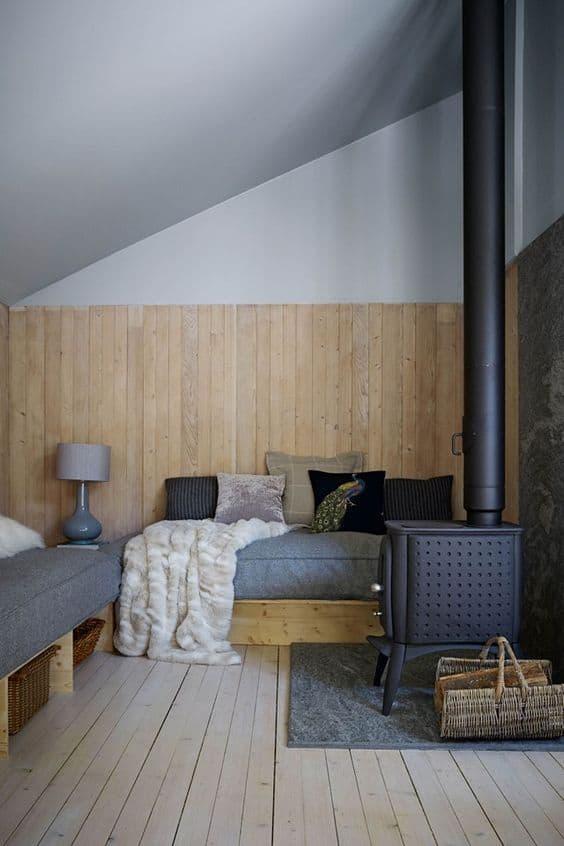 Wainscoting Wood Paneling Modern Grey Walls