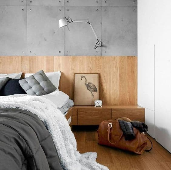 Modern Wood Wainscoting Paneling Plywood Bed