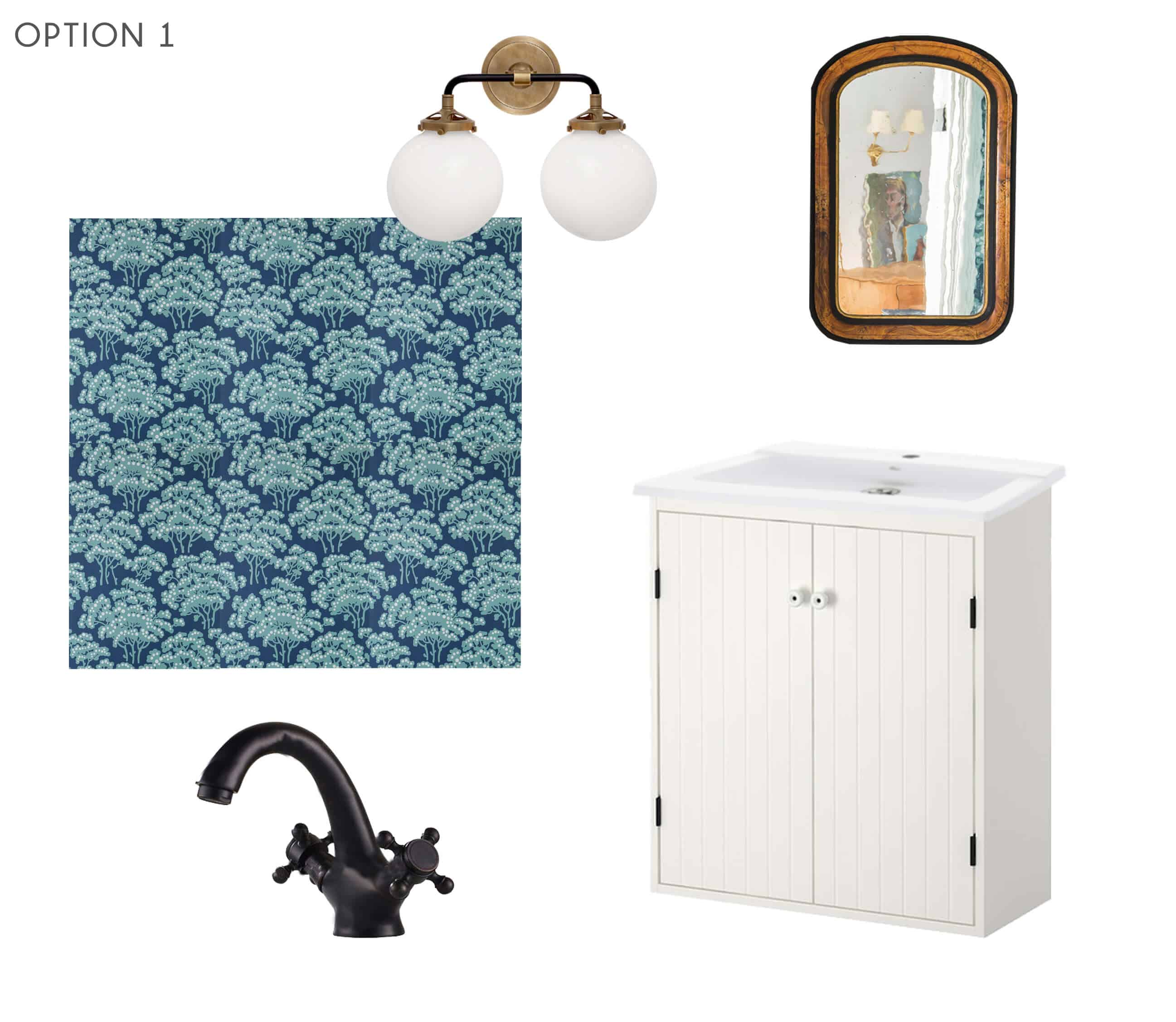Emily Henderson_Ask the Audience_Powder Room_Vanity_Faucet_Combo_Option 1