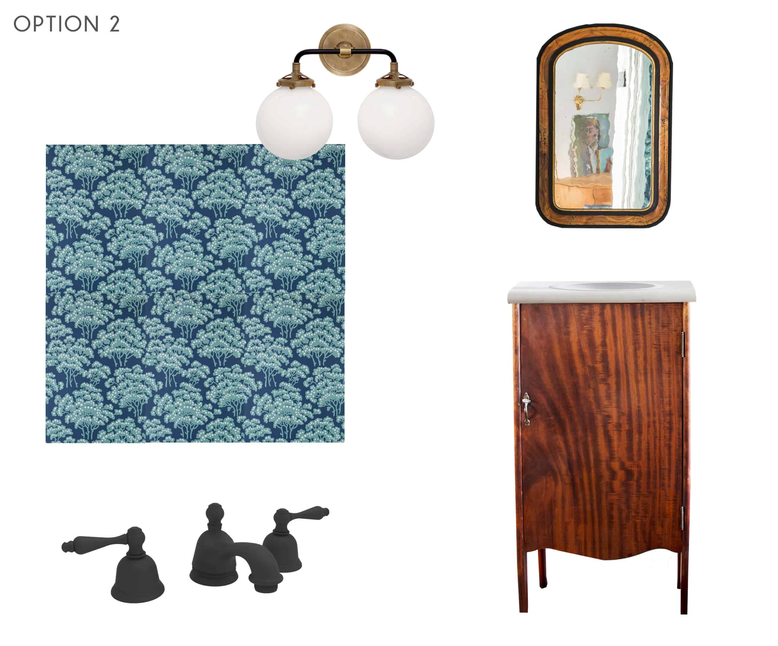 Emily Henderson_Ask the Audience_Powder Room_Vanity_Faucet_Combo_Option 2