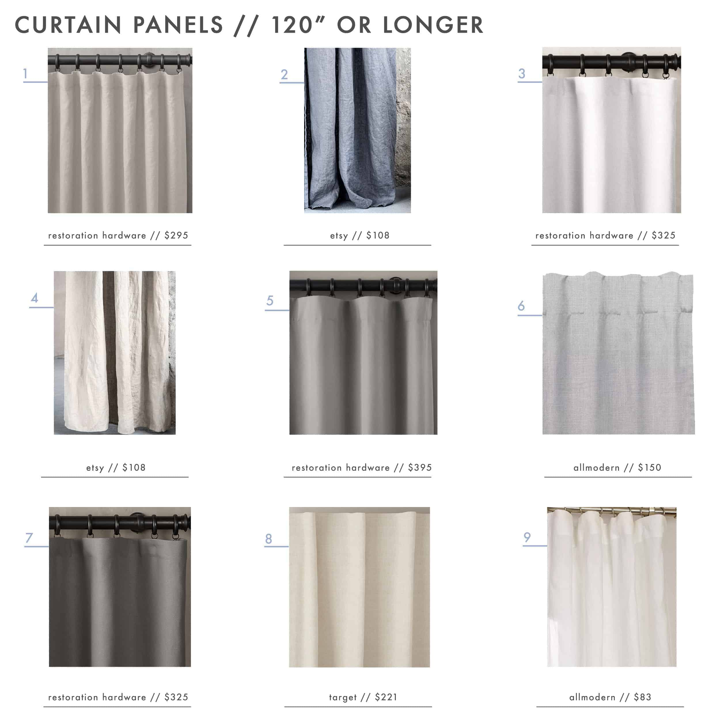 Emily Henderson Awkward Windows Extra Long Curtain Roundup1