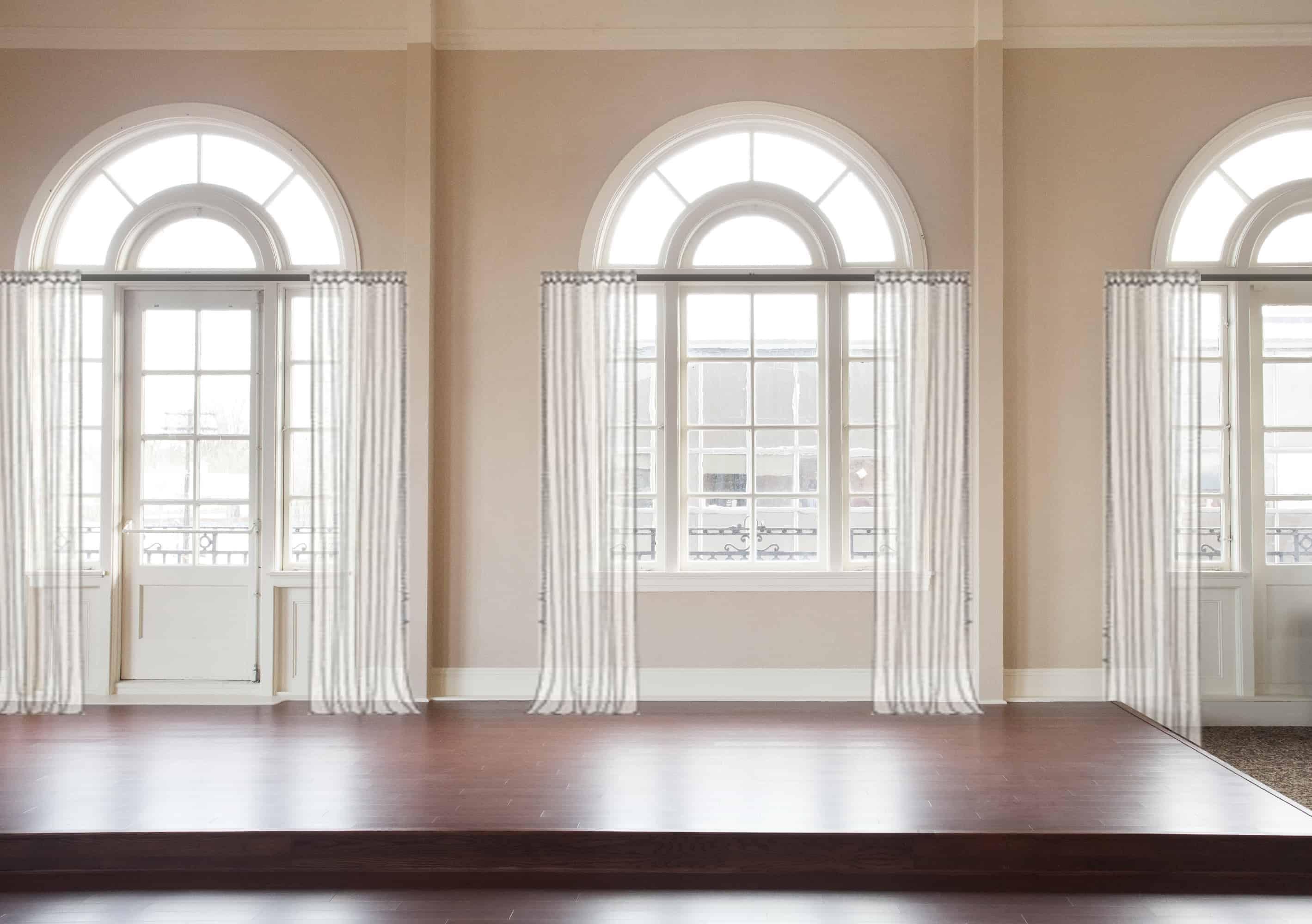 Emily Henderson Awkward Windows Wall Treatments Arched Windows Half Length