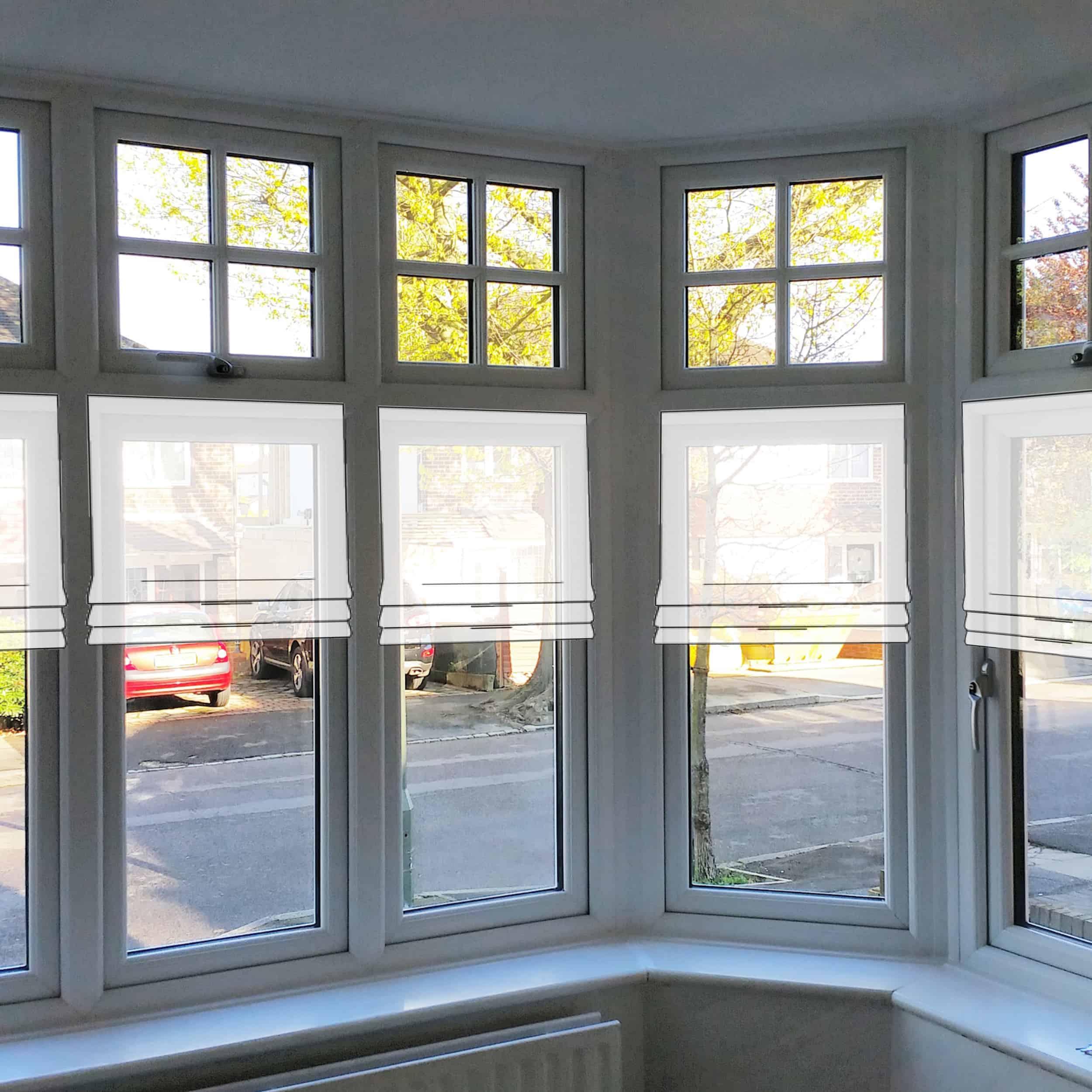 Emily Henderson Awkward Windows Wall Treatments Window Ledge Roman Shades 1