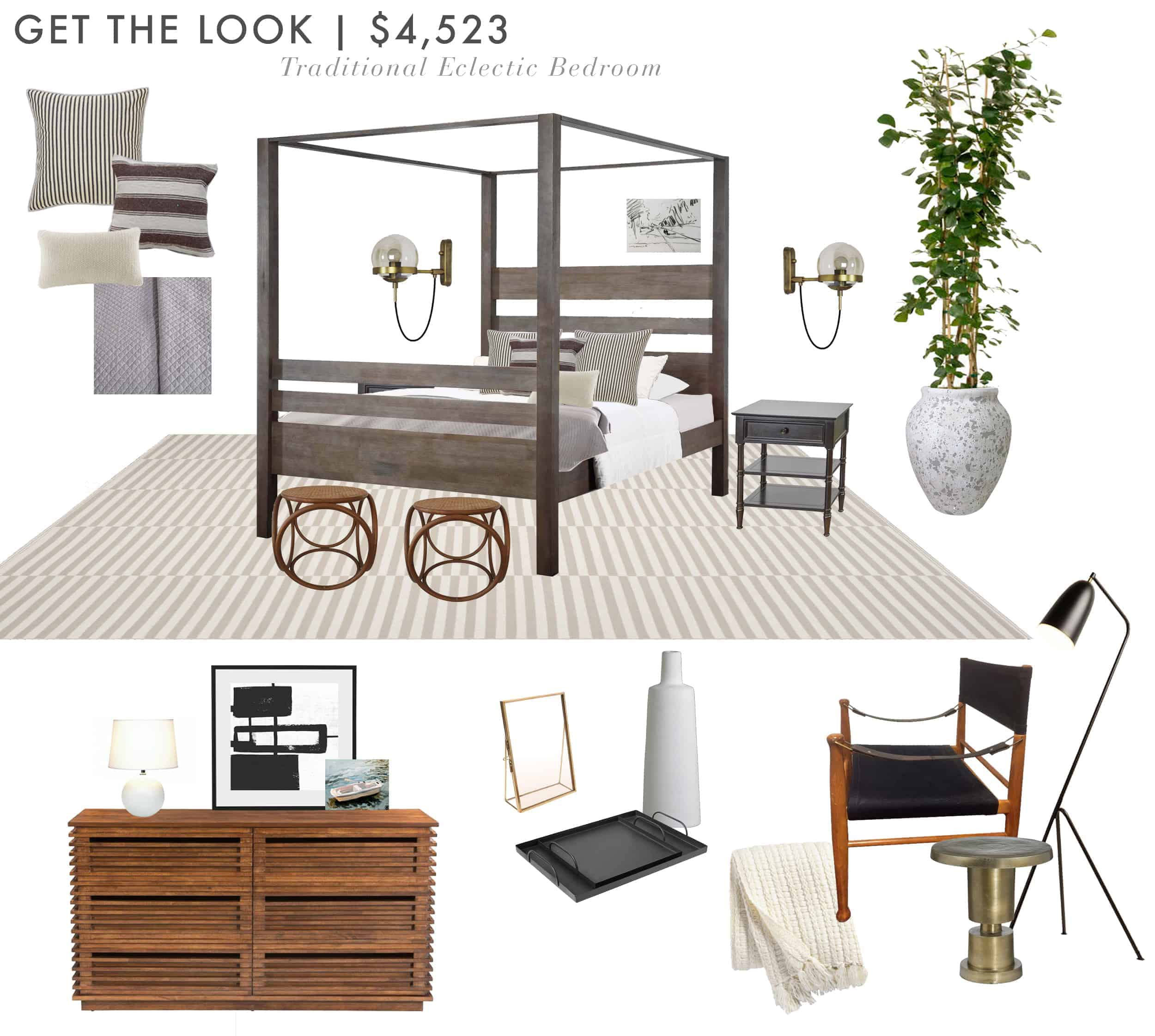 Emily Henderson Budget Room Bedroom Ebay Low Version2