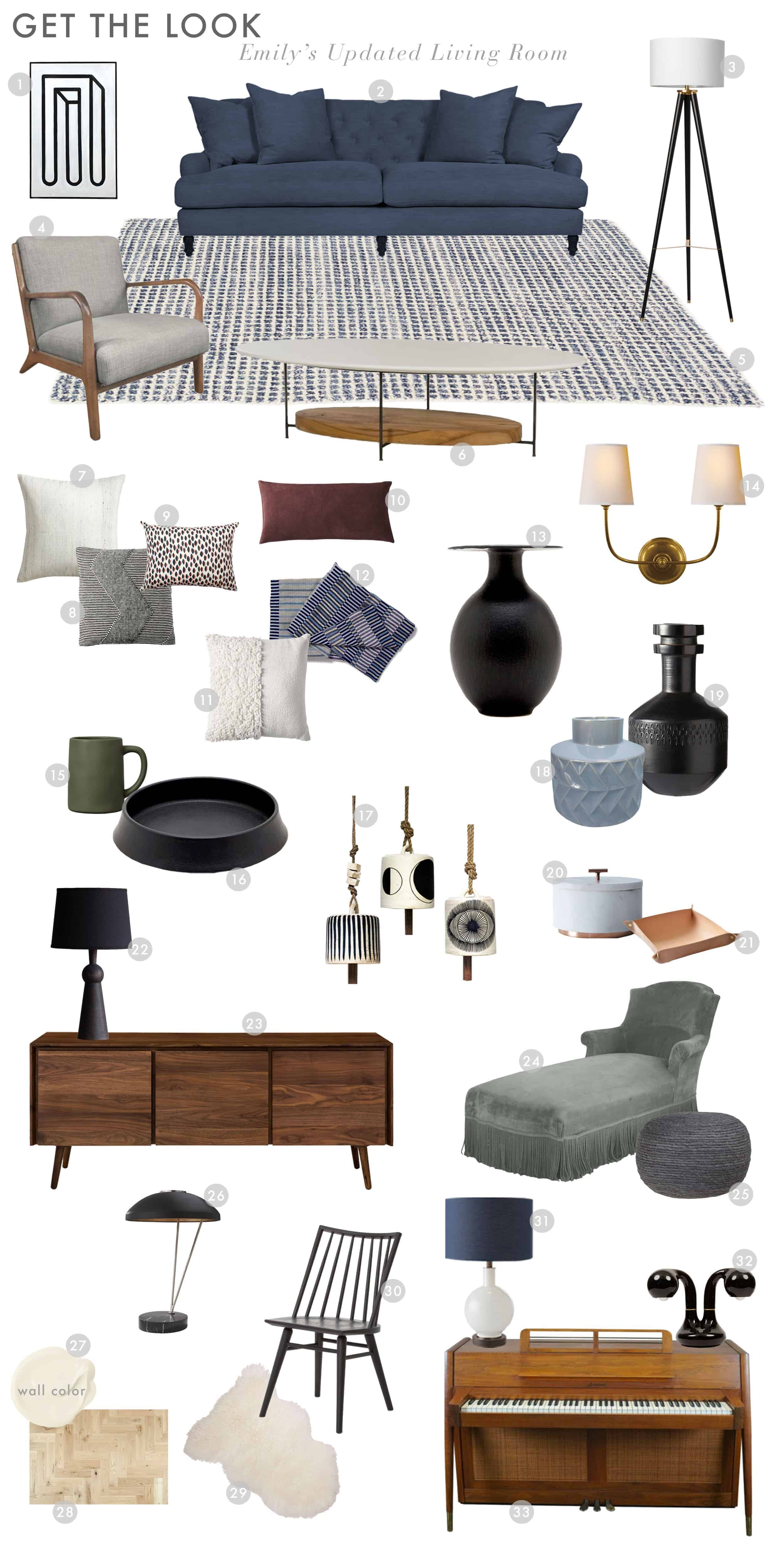 Emily Henderson Emilys House Modern English Tudor Living Room Reveal Get The Look Updated Look1