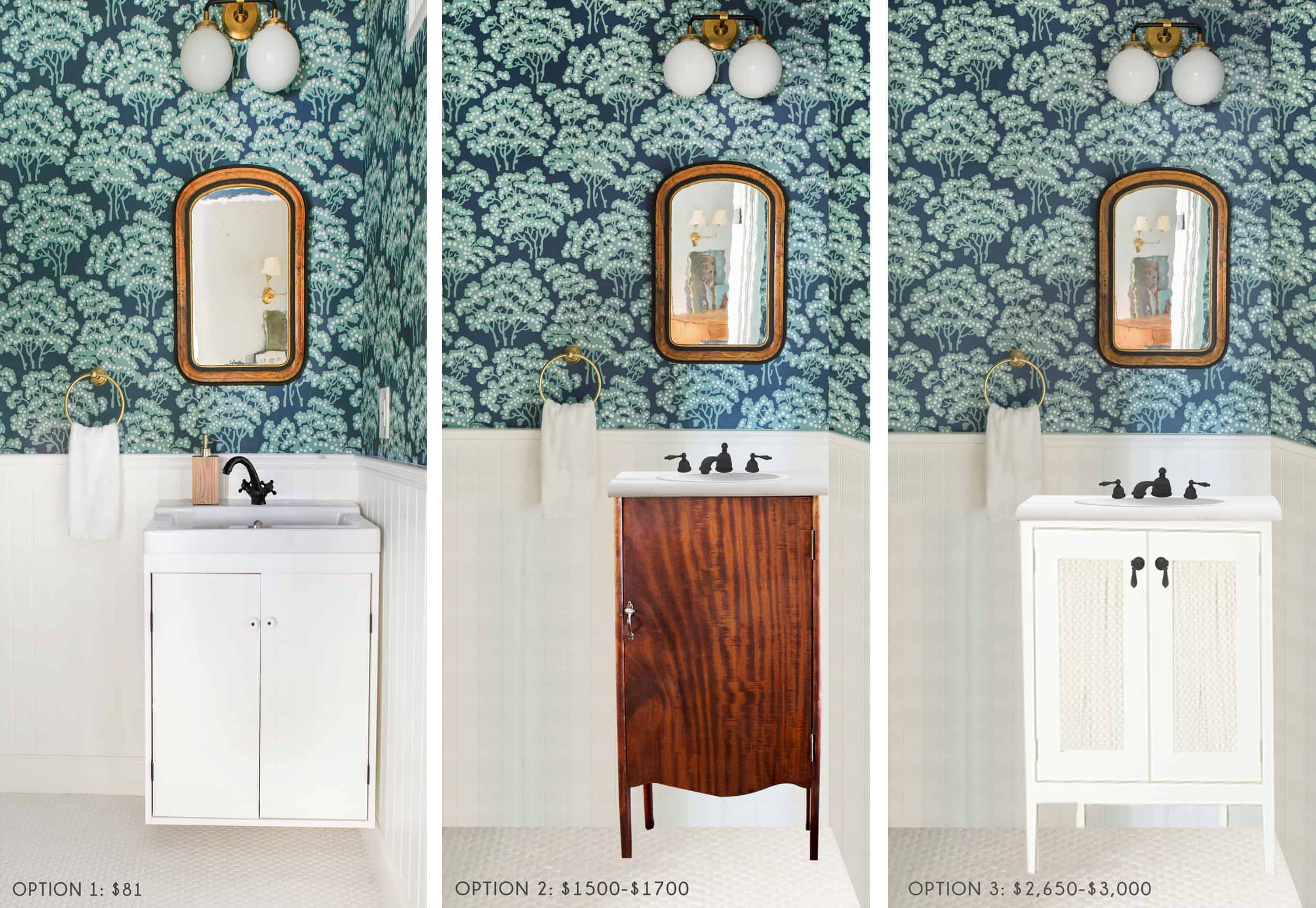 Emily Henderson Home Waverly Powder Room Vanity Faucet Sink Ask The Audience Option Roundup1