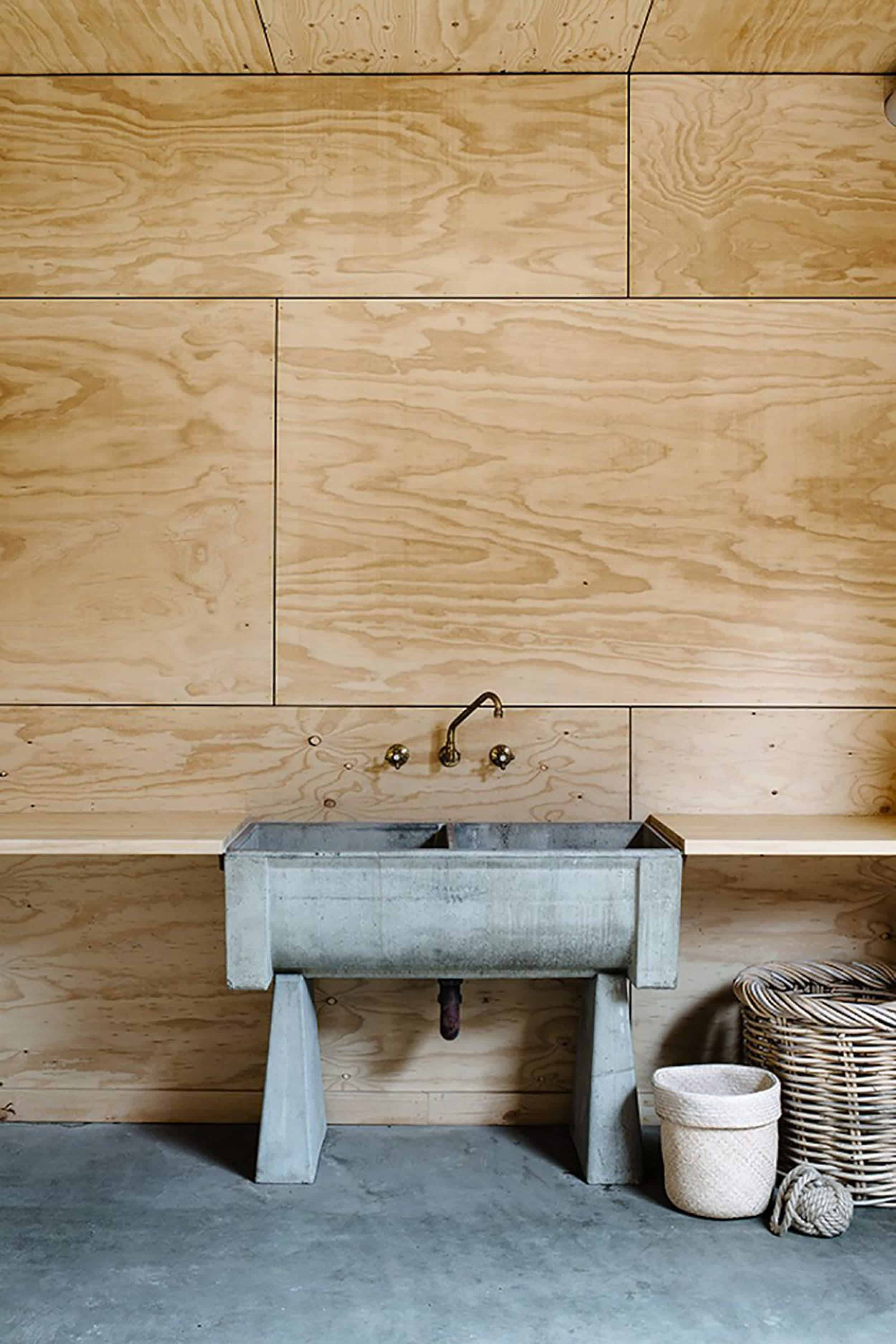 Emily Henderson How To Add Character To Basic Architecture Walls Celings Wood Unfinished Raw 10