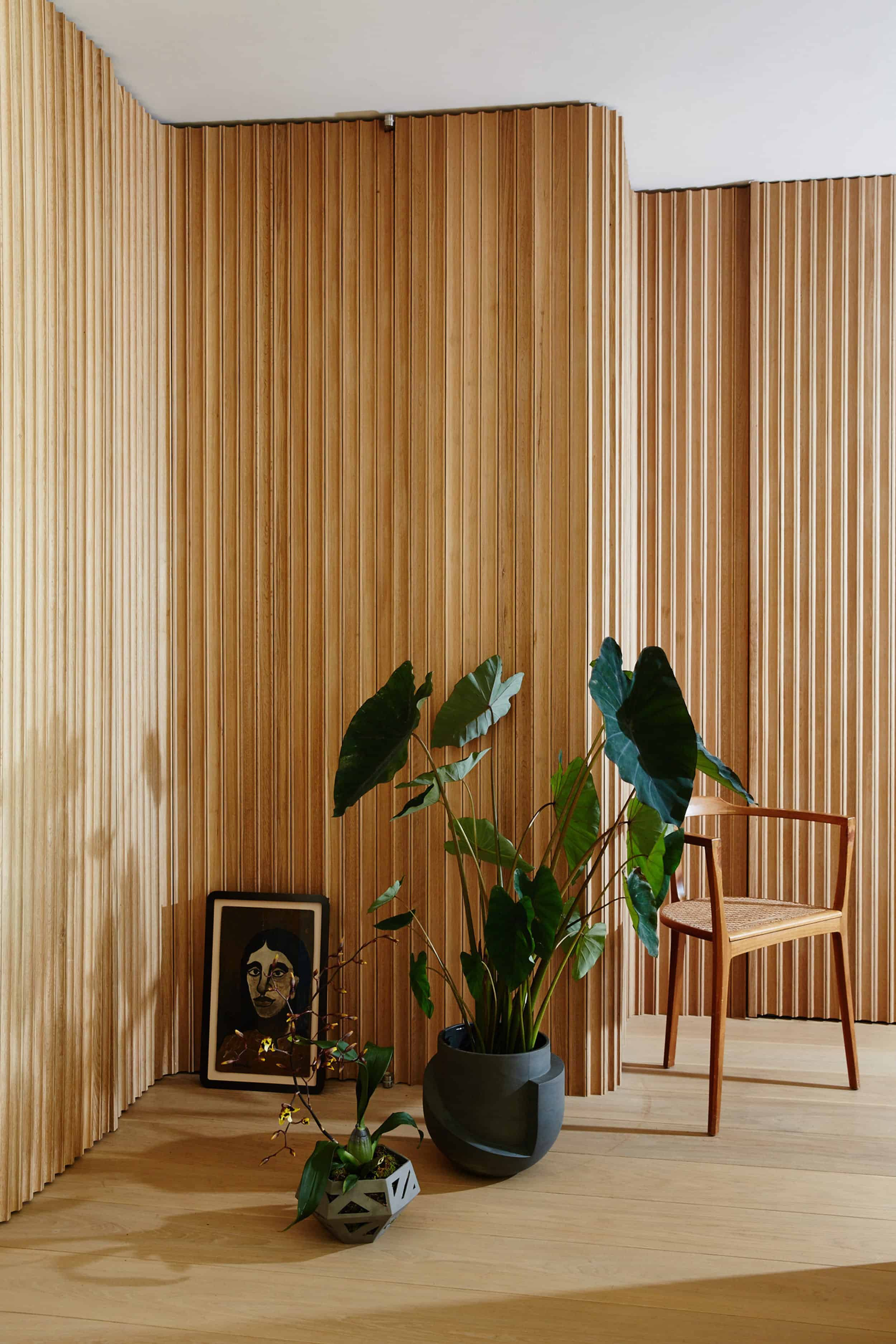 Emily Henderson How To Add Character To Basic Architecture Walls Celings Wood Unfinished Raw 111