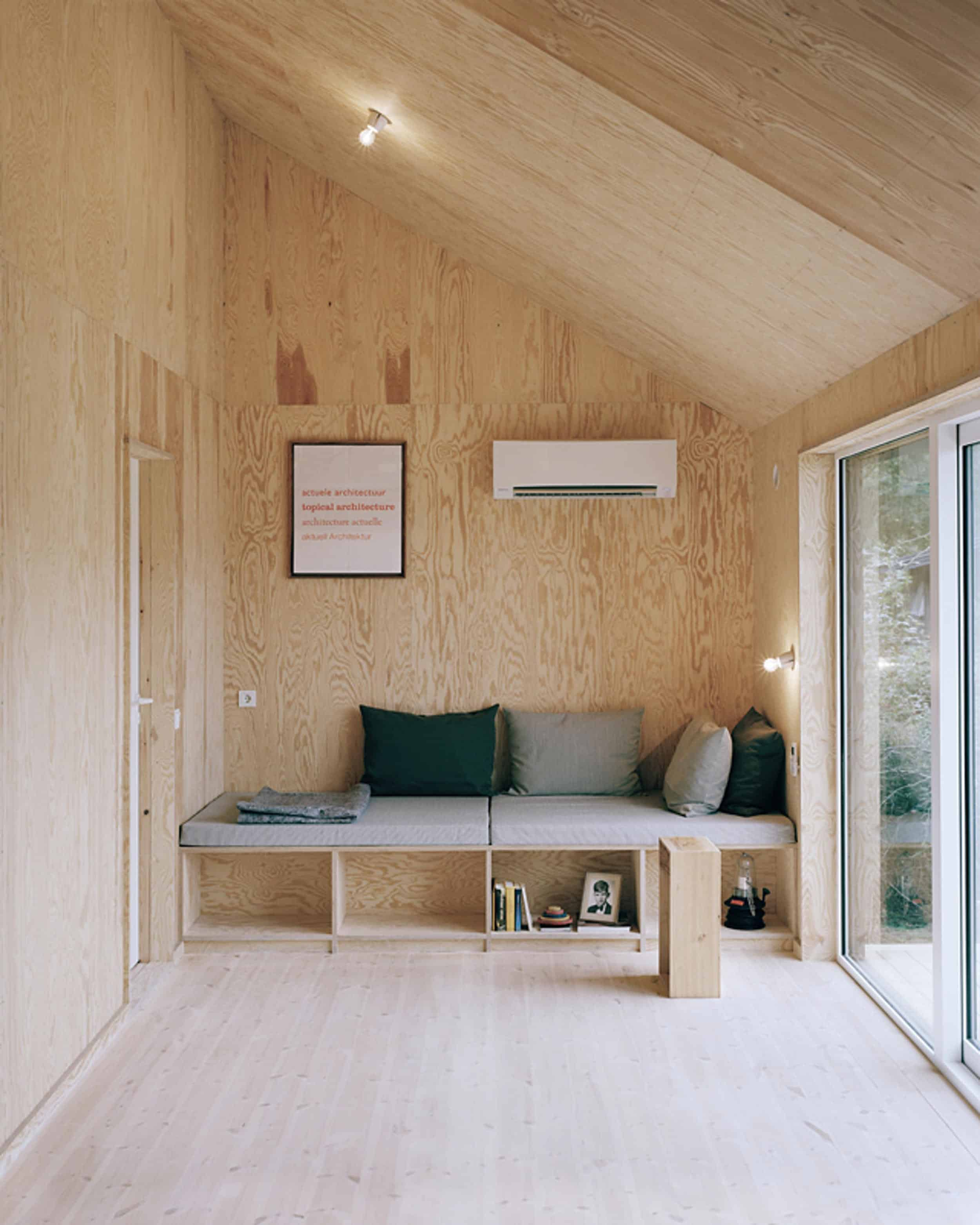 Emily Henderson How To Add Character To Basic Architecture Walls Celings Wood Unfinished Raw 12