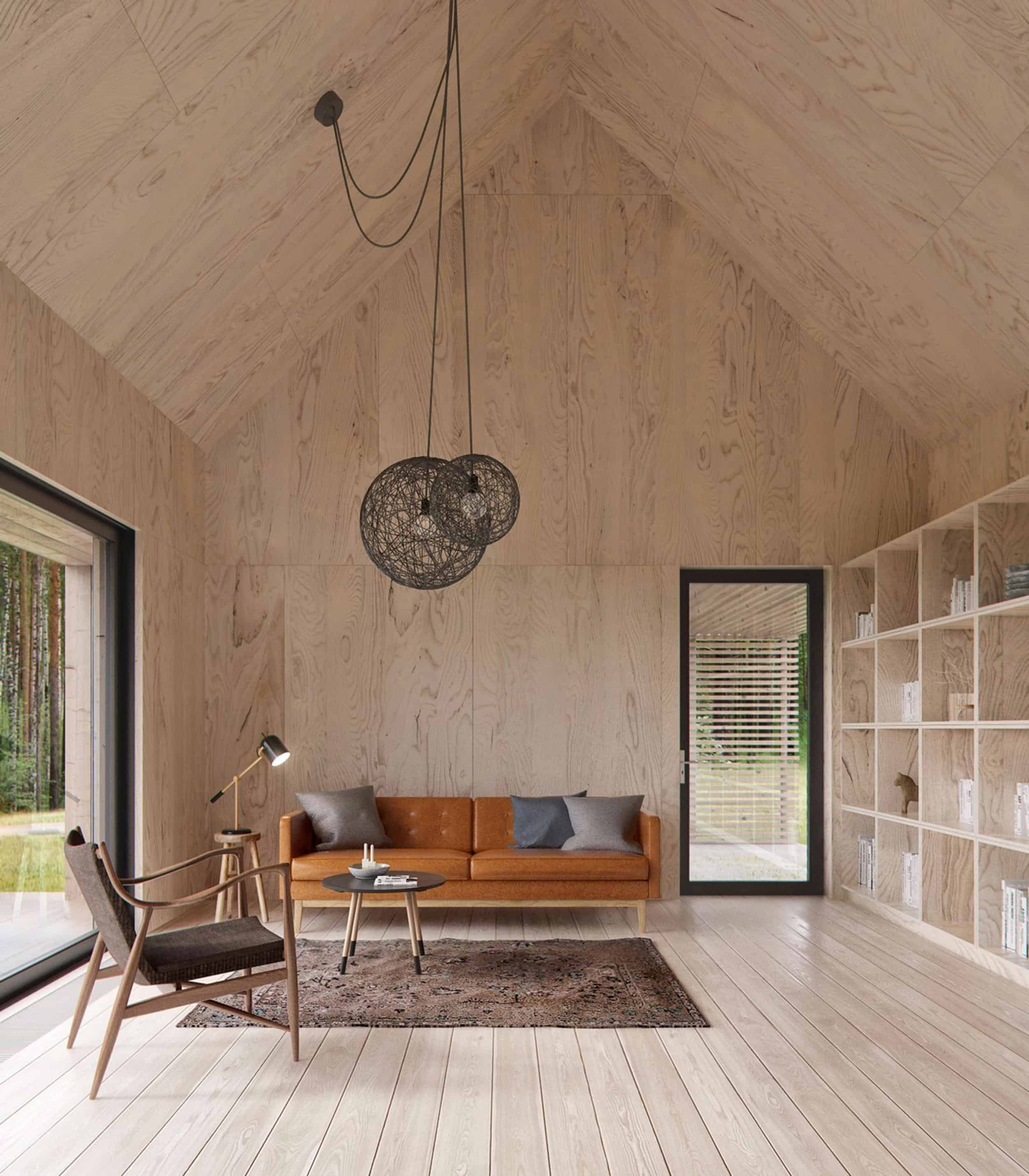 Emily Henderson How To Add Character To Basic Architecture Walls Celings Wood Unfinished Raw 4