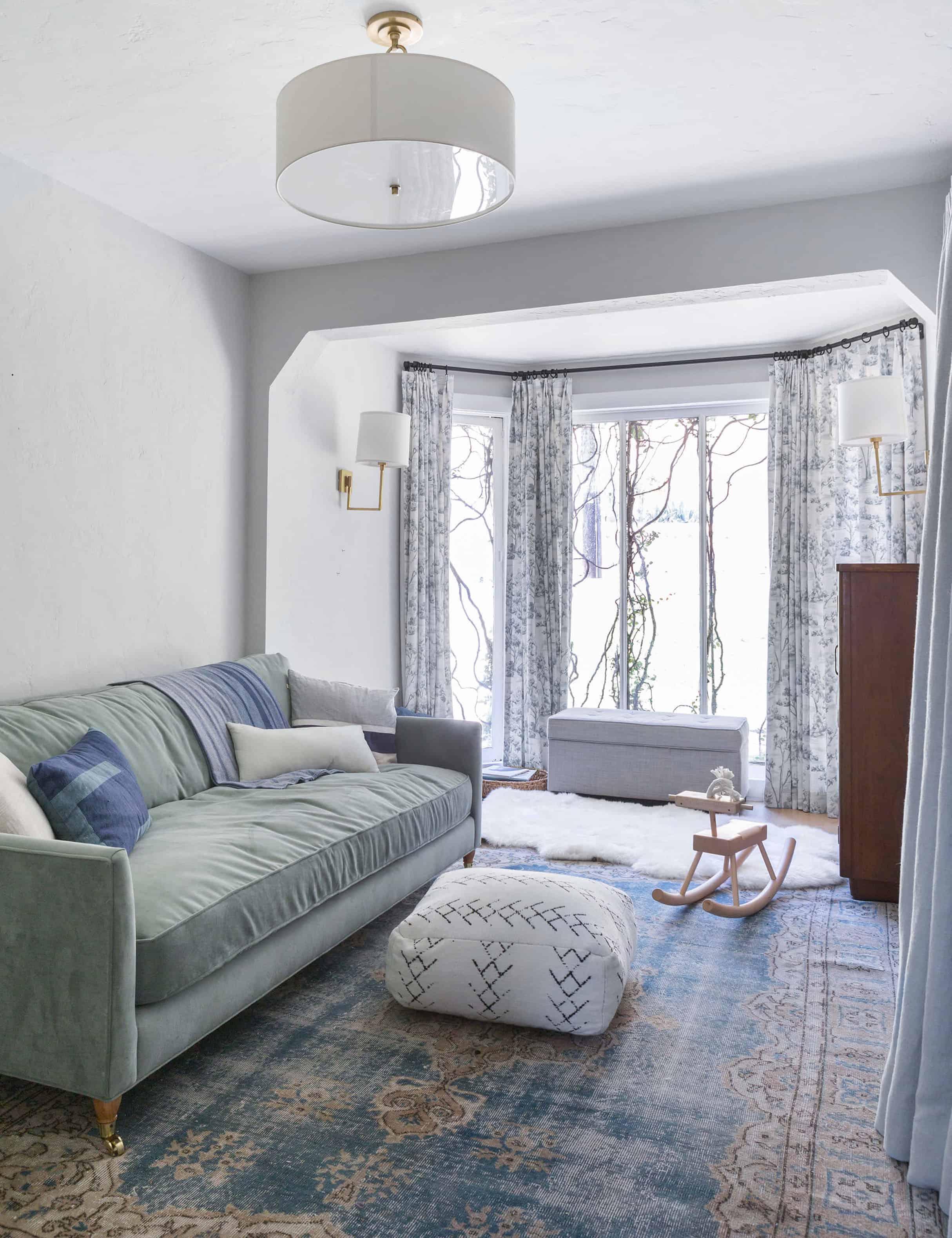 Emily Henderson Modern English Cottage Tudor Family Room 02