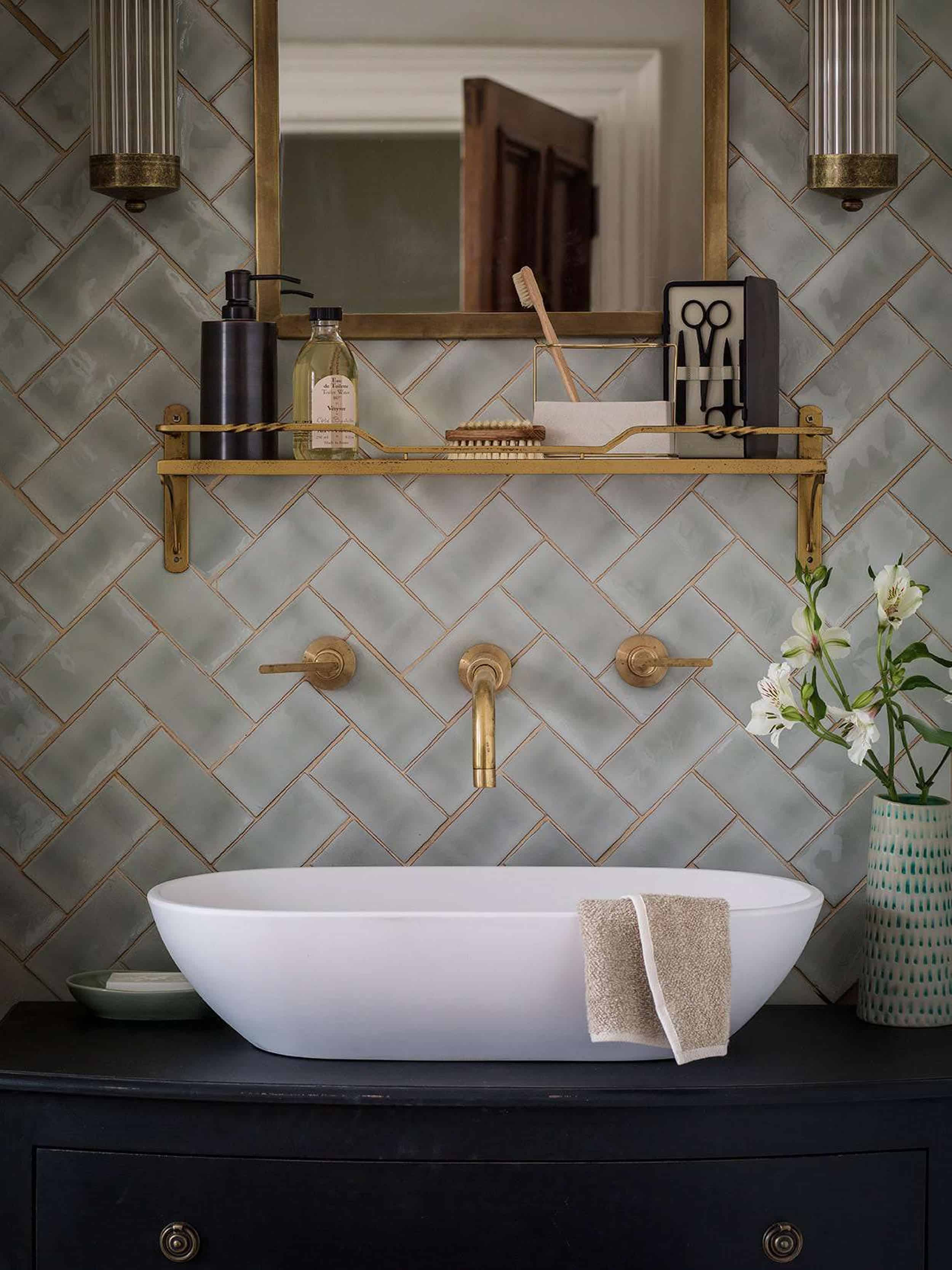 Image of: Let S Talk Vessel Sinks Wall Mount Faucets Emily Henderson