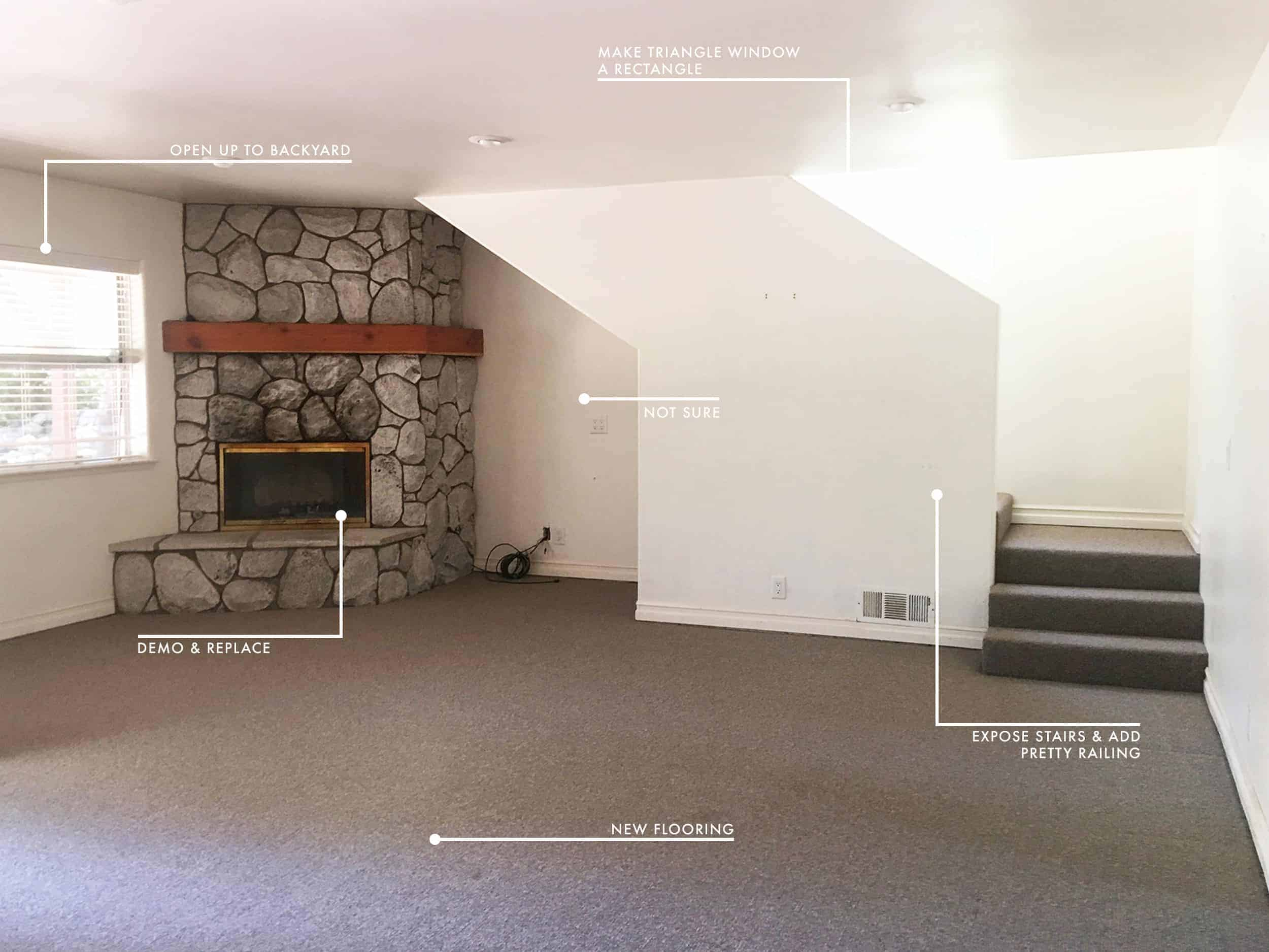 Emily Henderson Mountain Fixer Upper Before Family Room