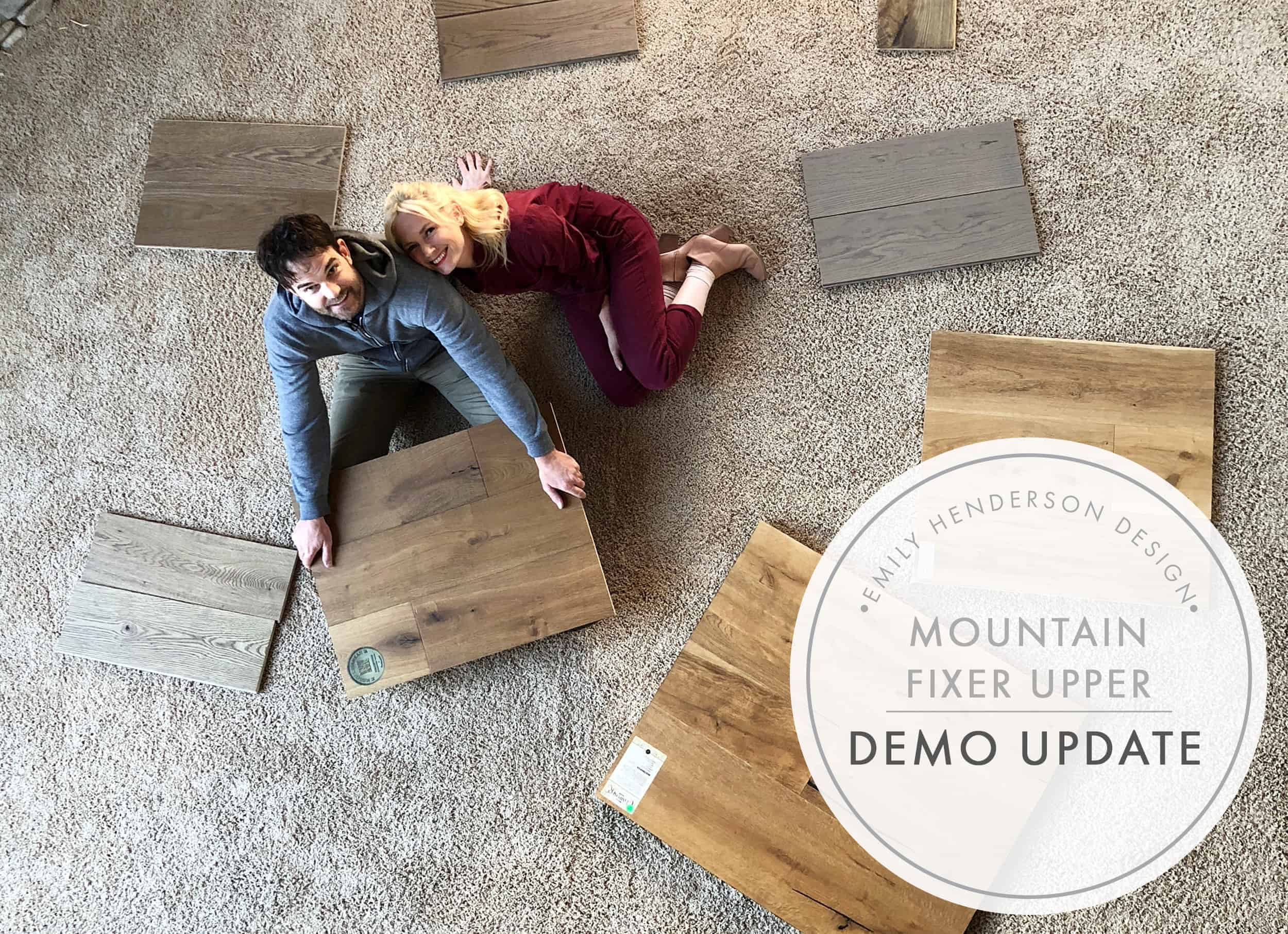 Emily Henderson Mountain Fixer Upper Cabin Demo Update Header Image