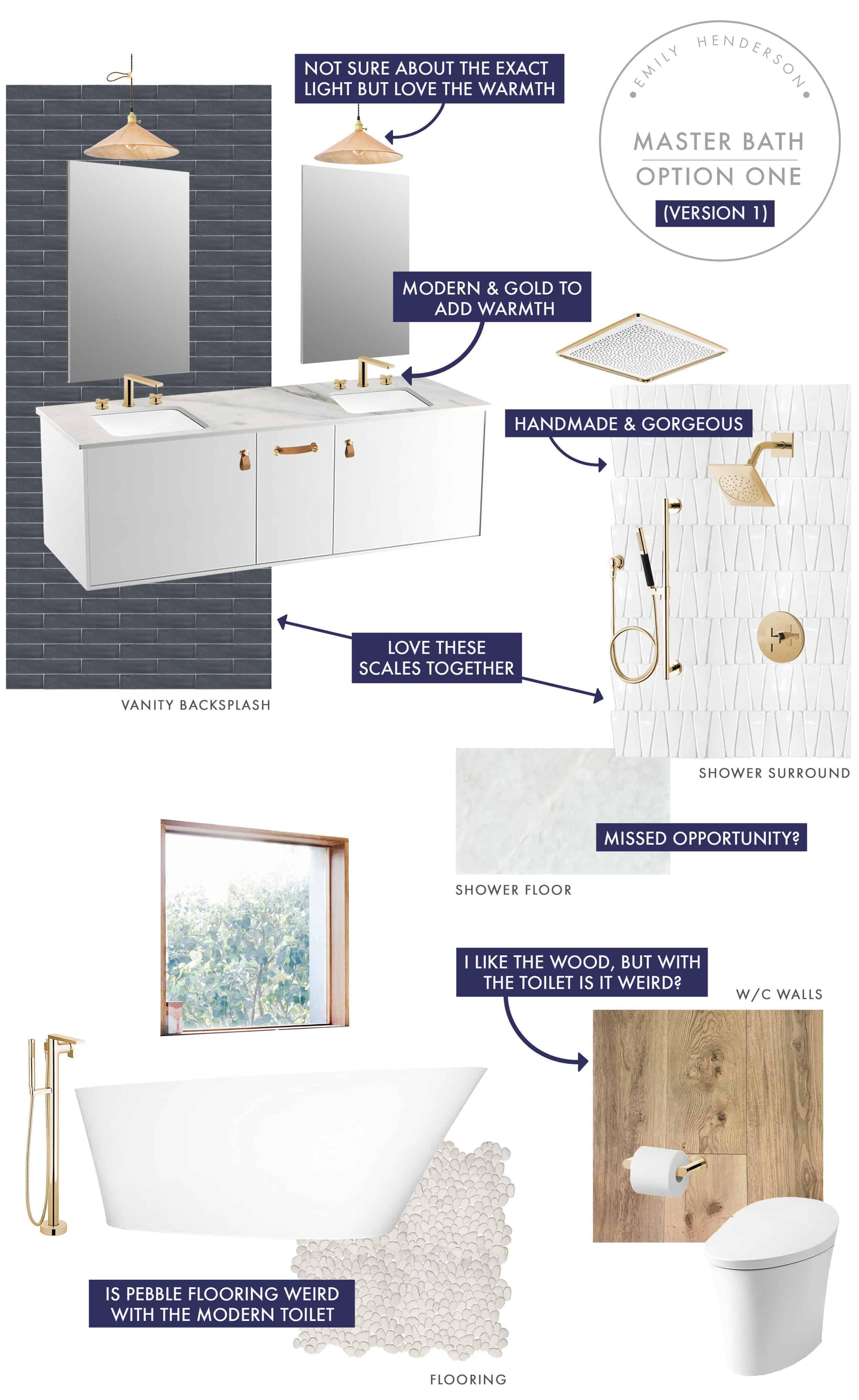 Emily Henderson Mountain Fixer Upper I Design You Decide Master Bath Final Option One V01