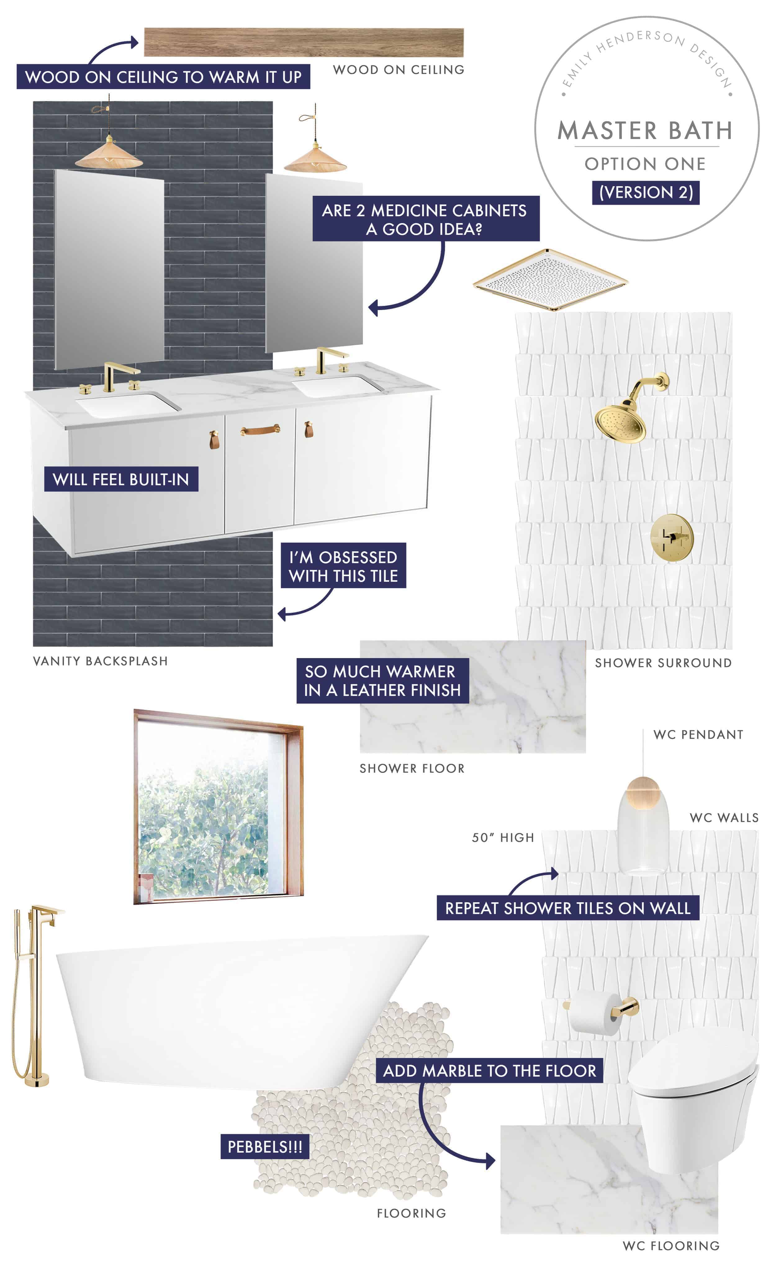 Emily Henderson Mountain Fixer Upper I Design You Decide Master Bath Final Option One V02