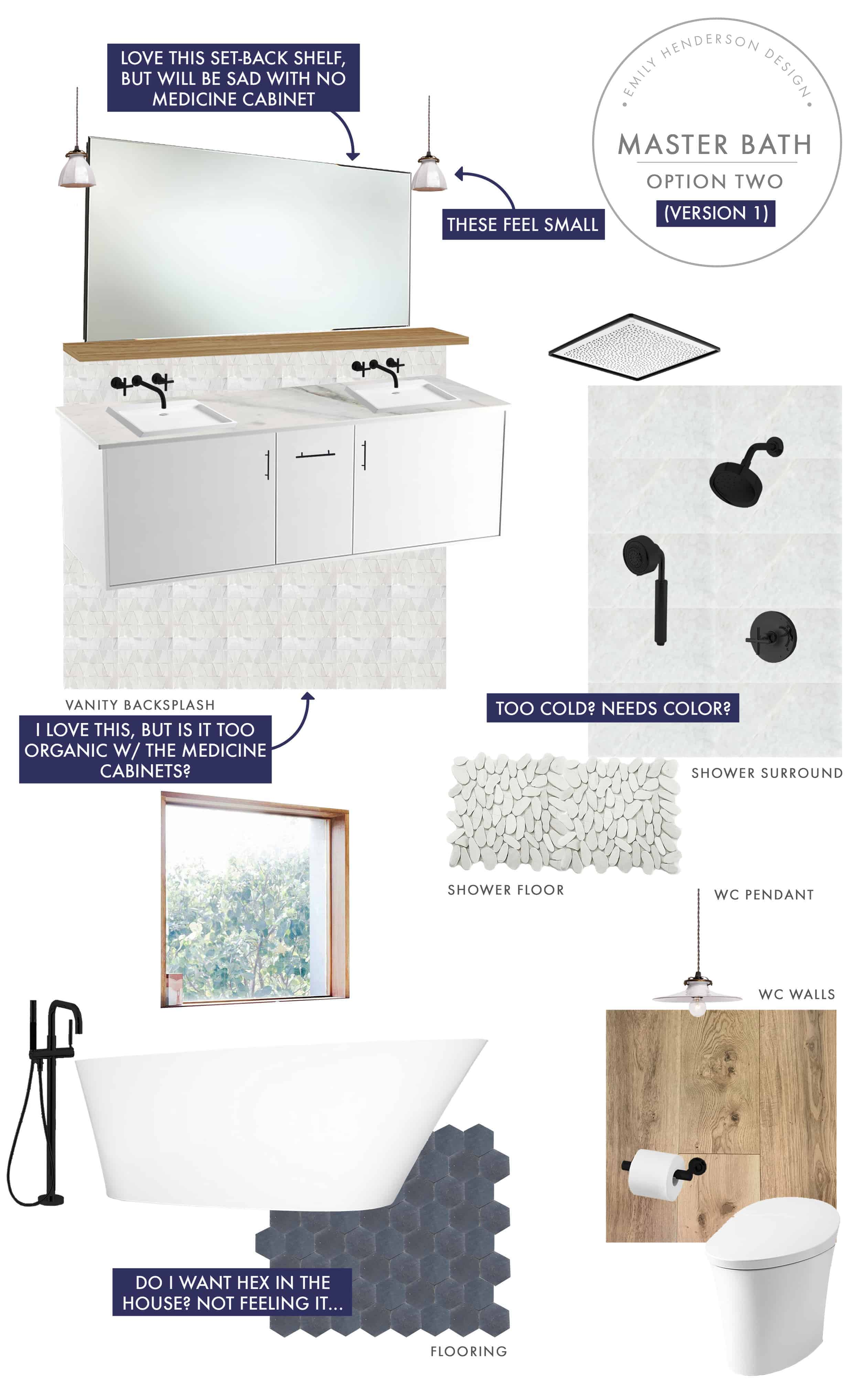 Emily Henderson Mountain Fixer Upper I Design You Decide Master Bath Final Option Two V01