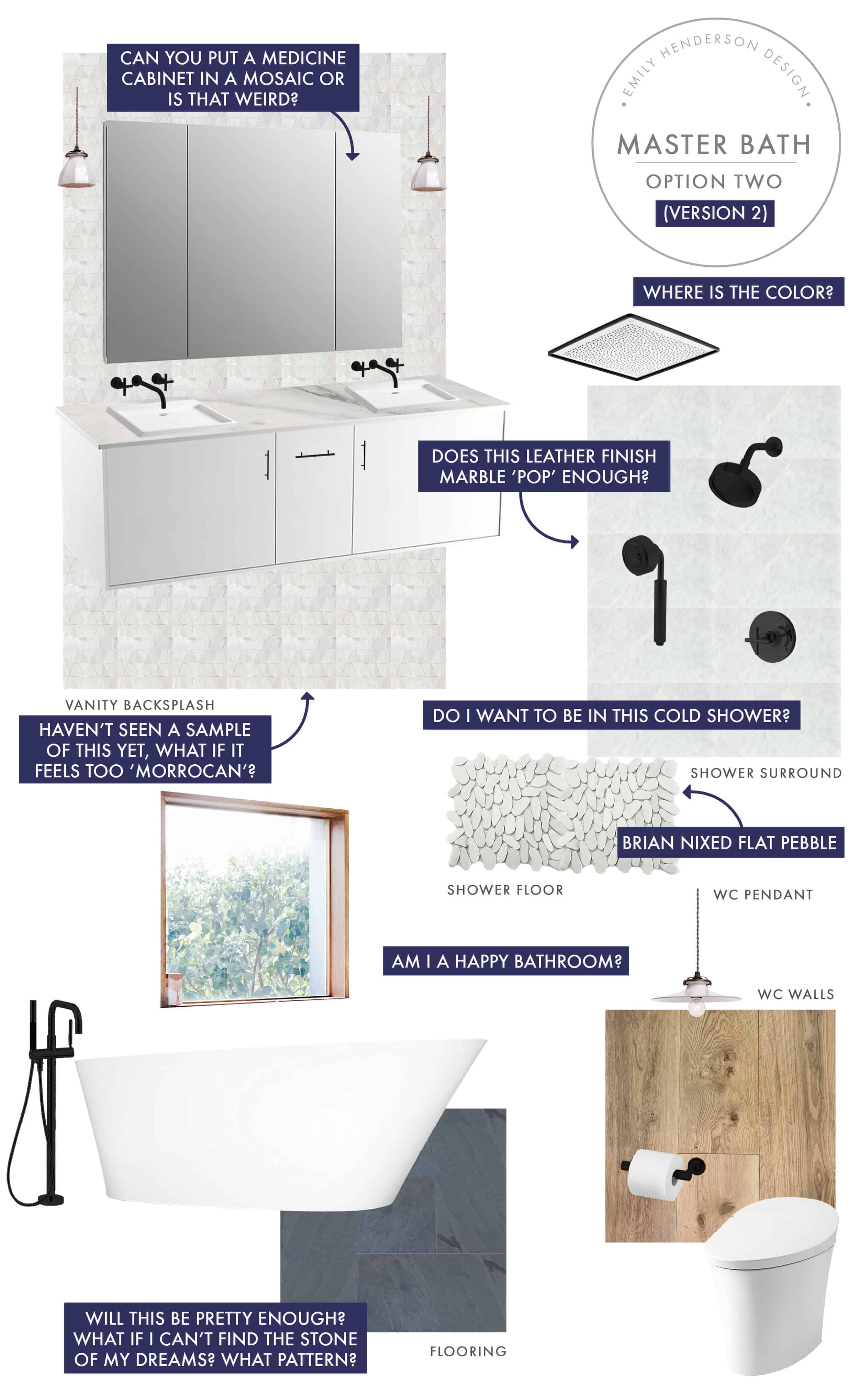 Emily Henderson Mountain Fixer Upper I Design You Decide Master Bath Final Option Two V02