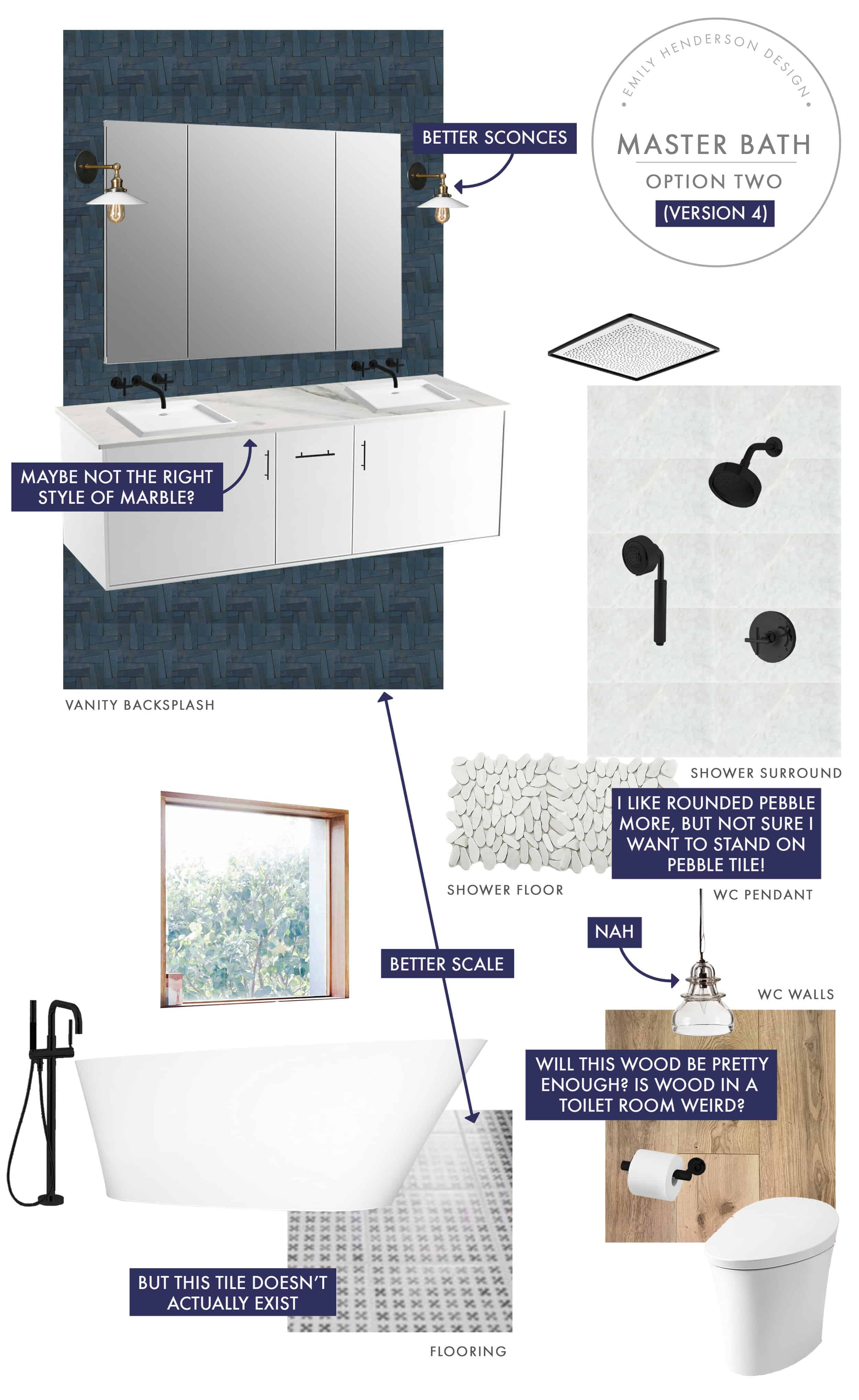 Emily Henderson Mountain Fixer Upper I Design You Decide Master Bath Final Option Two V04