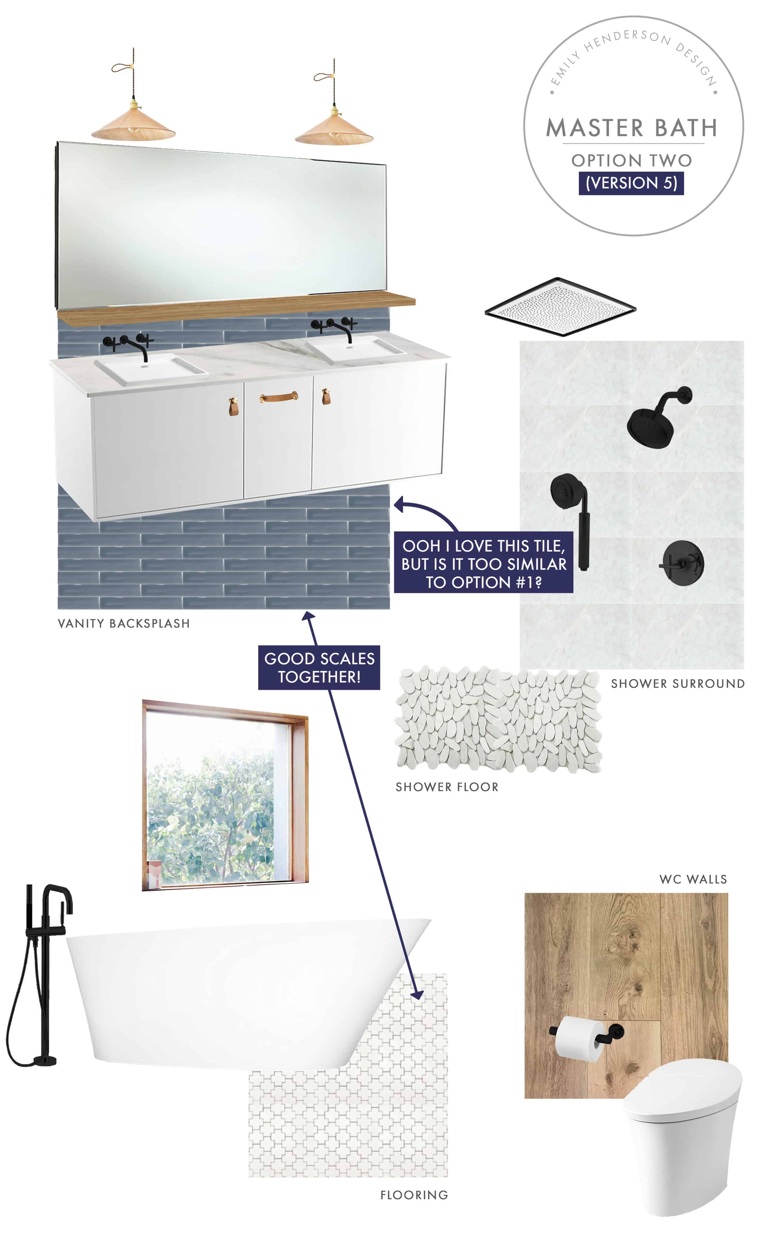 Emily Henderson Mountain Fixer Upper I Design You Decide Master Bath Final Option Two V05