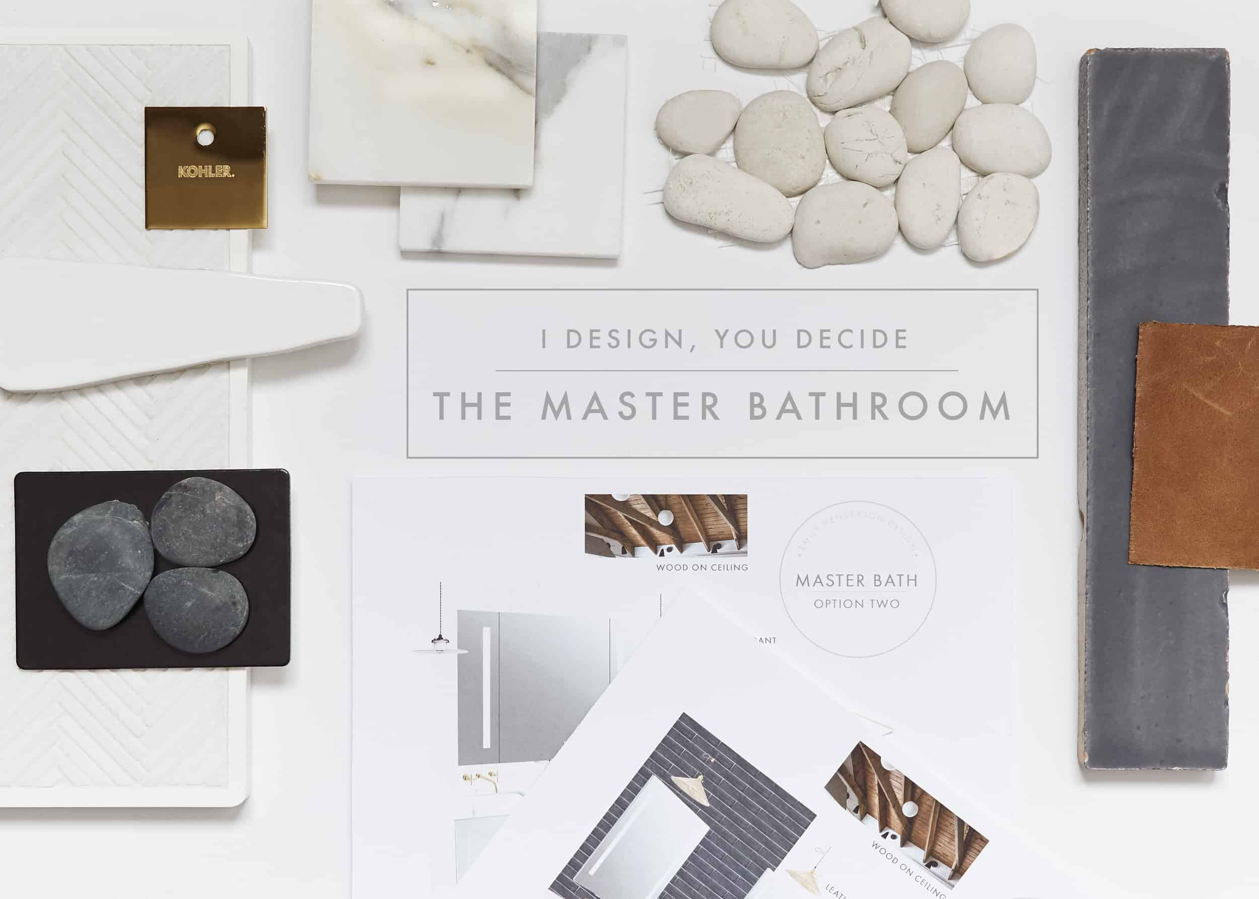 Emily Henderson I Design You Decide Master Bathroom Plans