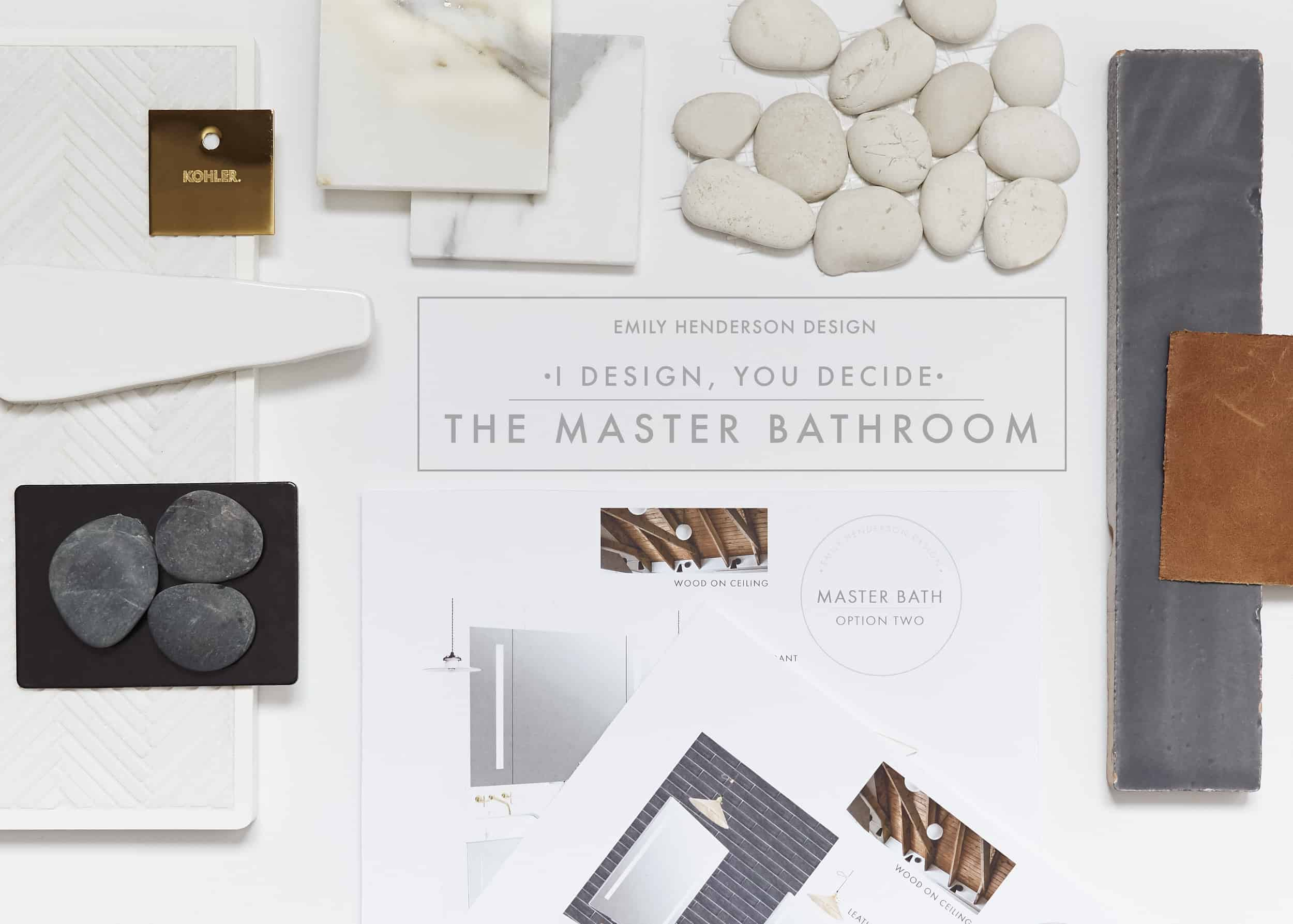 Emily Henderson I Design You Decide Master Bathroom Plans1